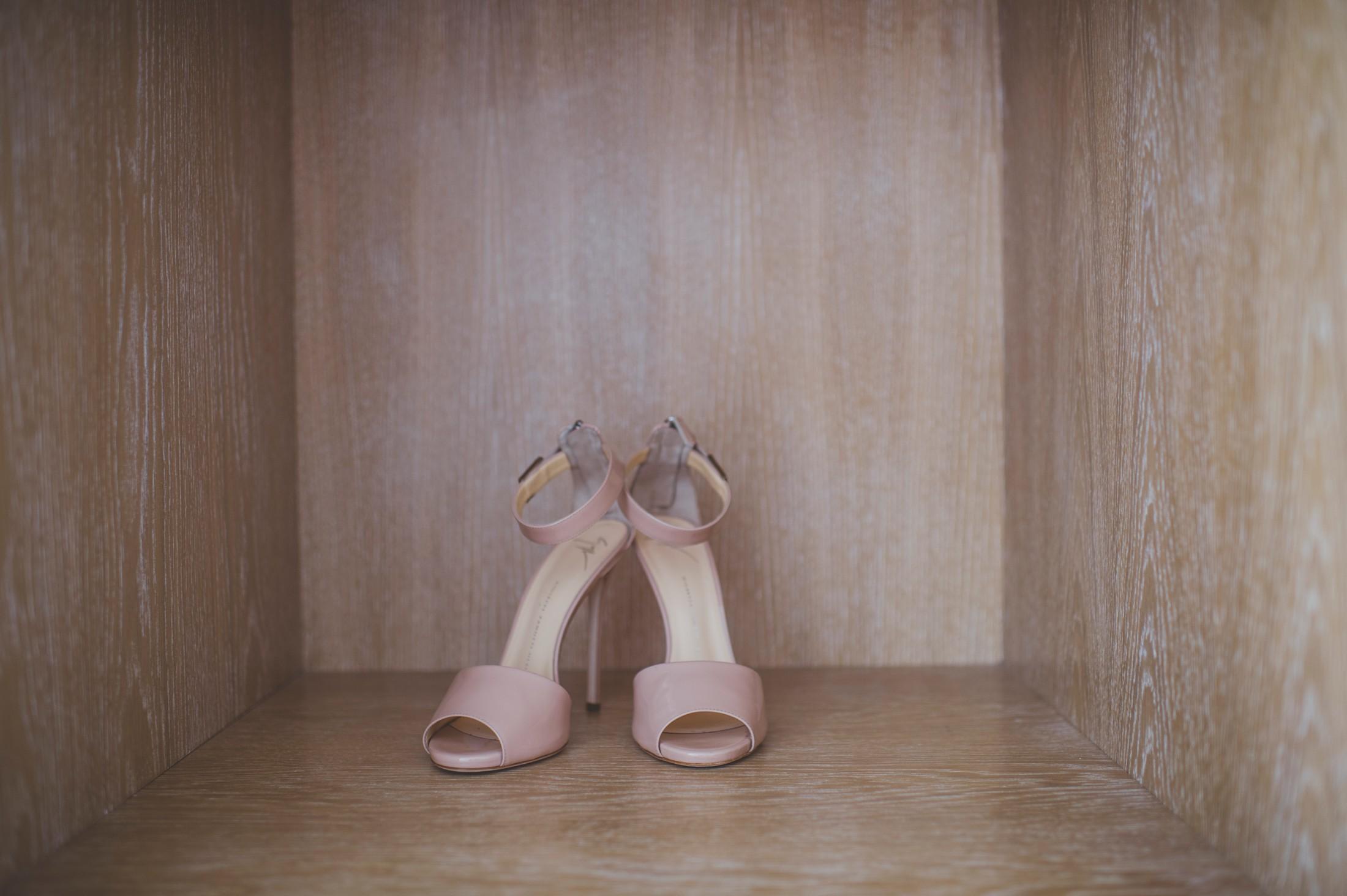 sorrento wedding bride's shoes
