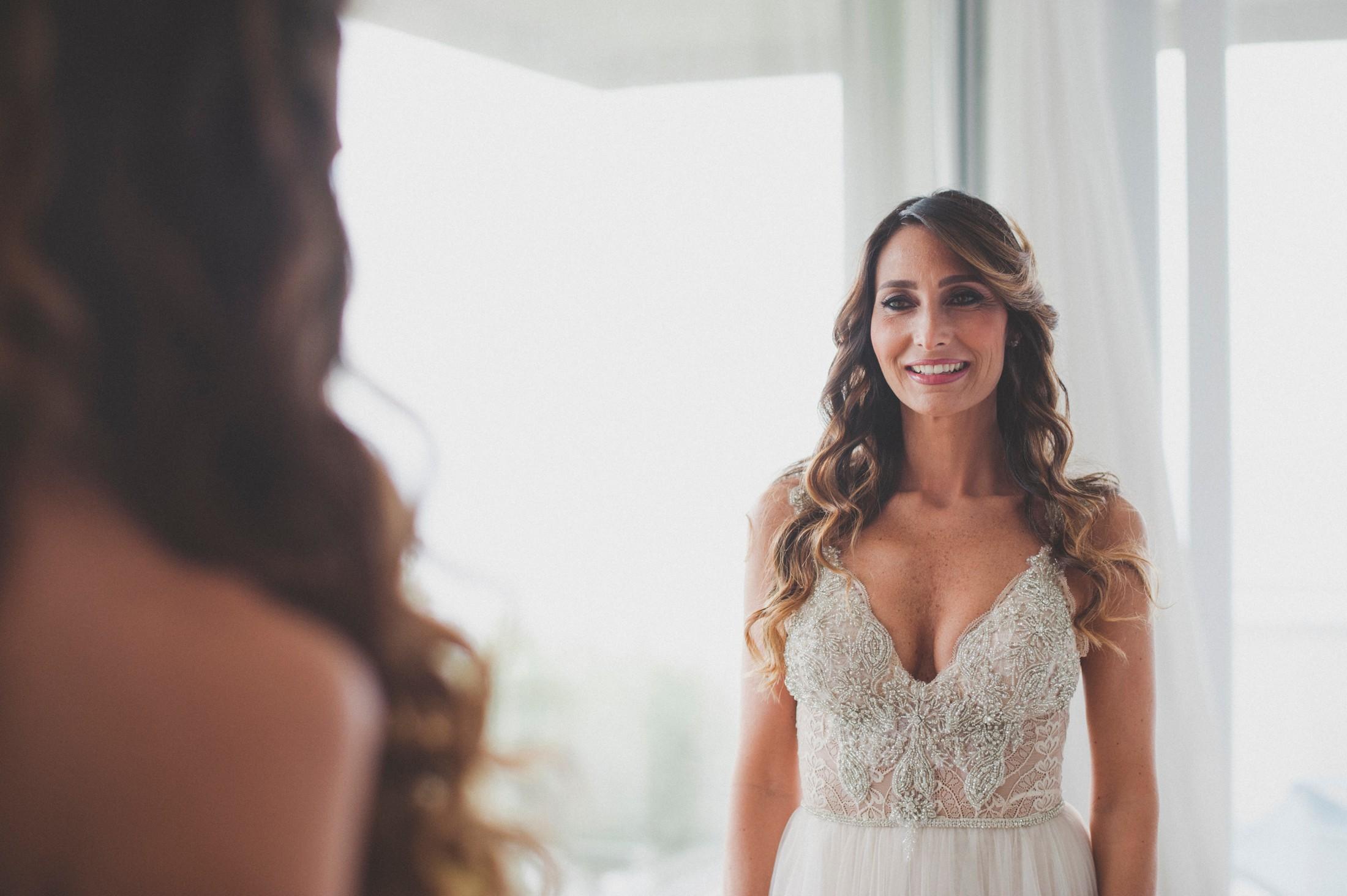 sorrento wedding bride's portrait