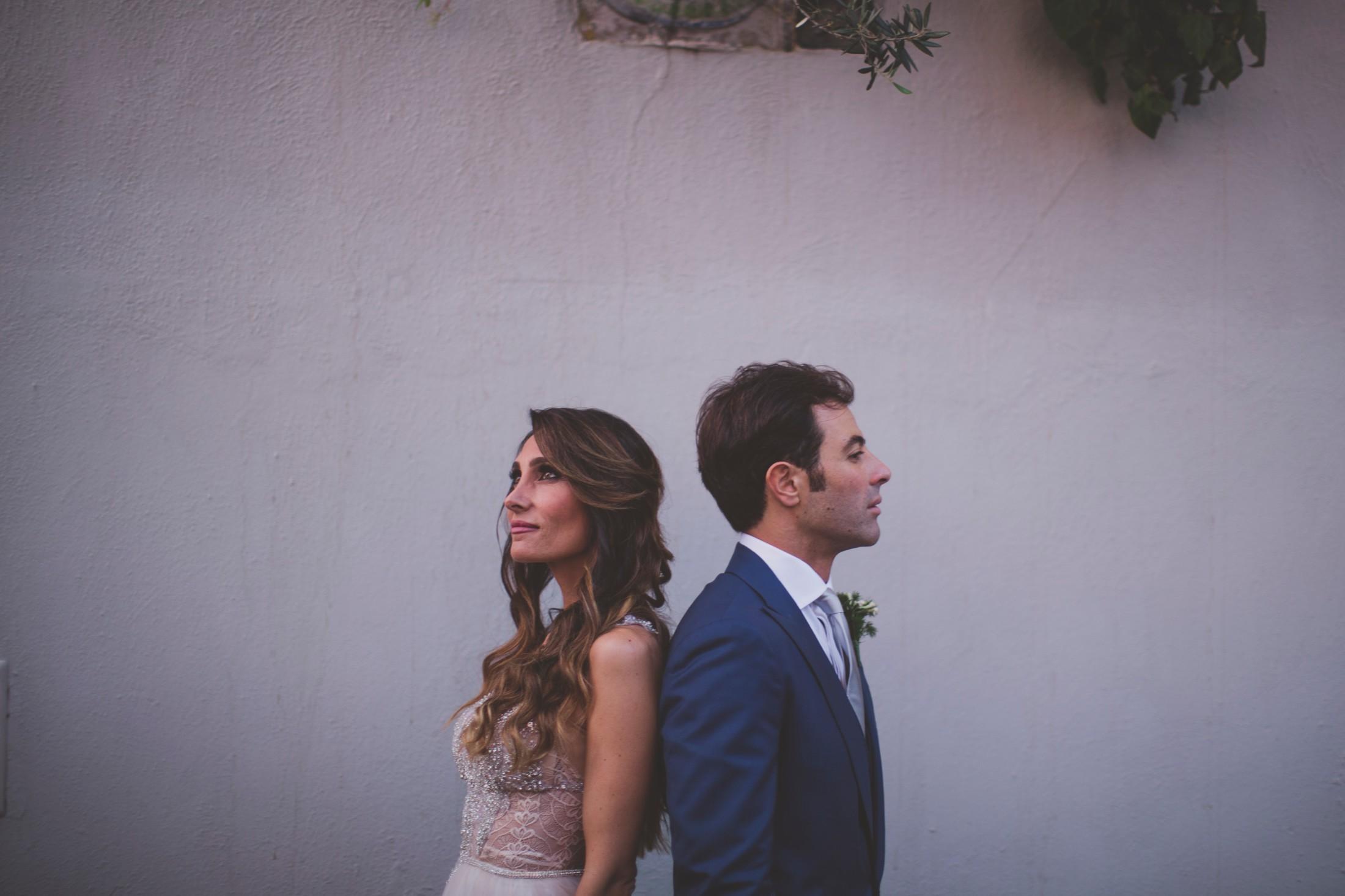 sorrento wedding bride and groom's portrait