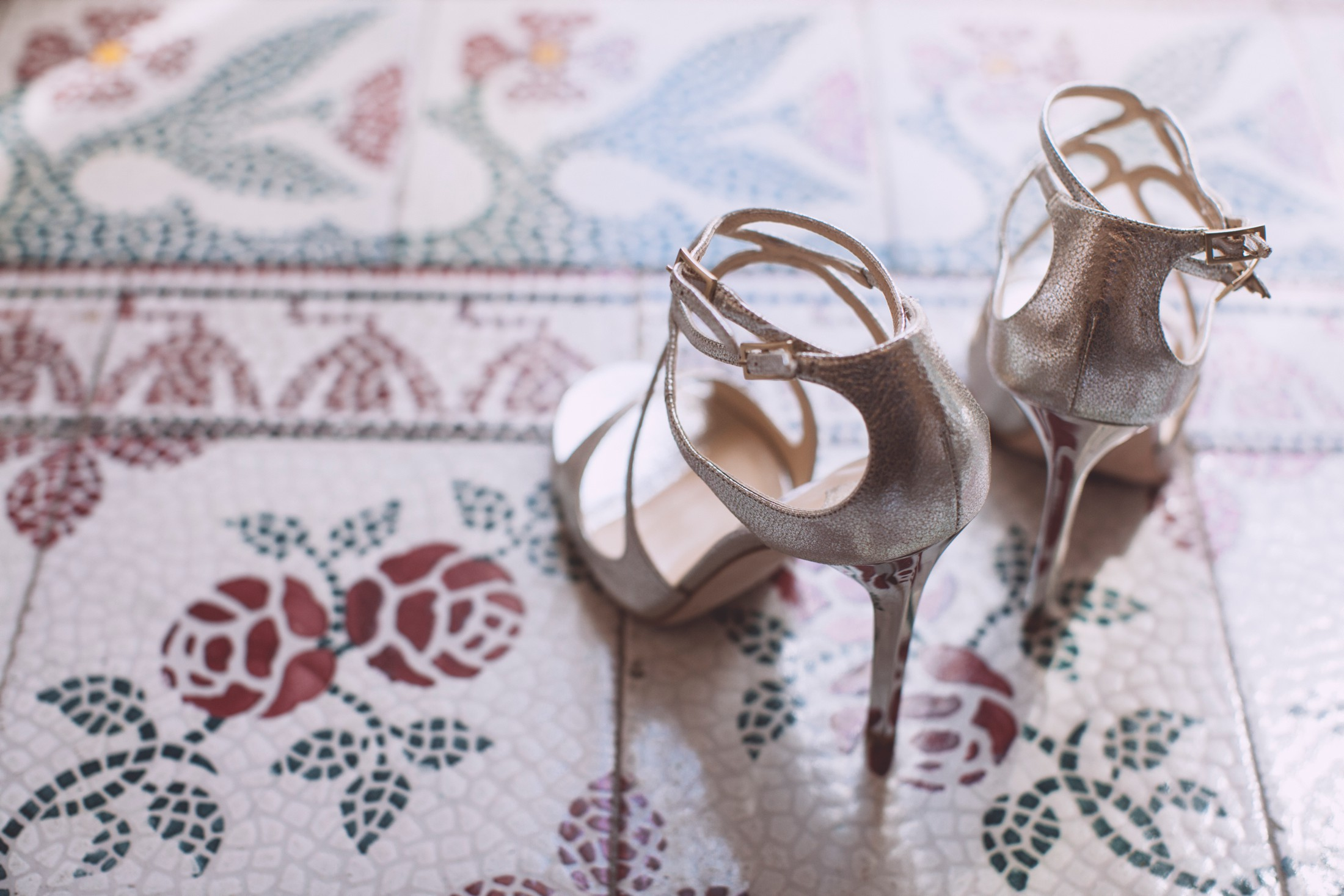 wedding in ravello bride's shoes
