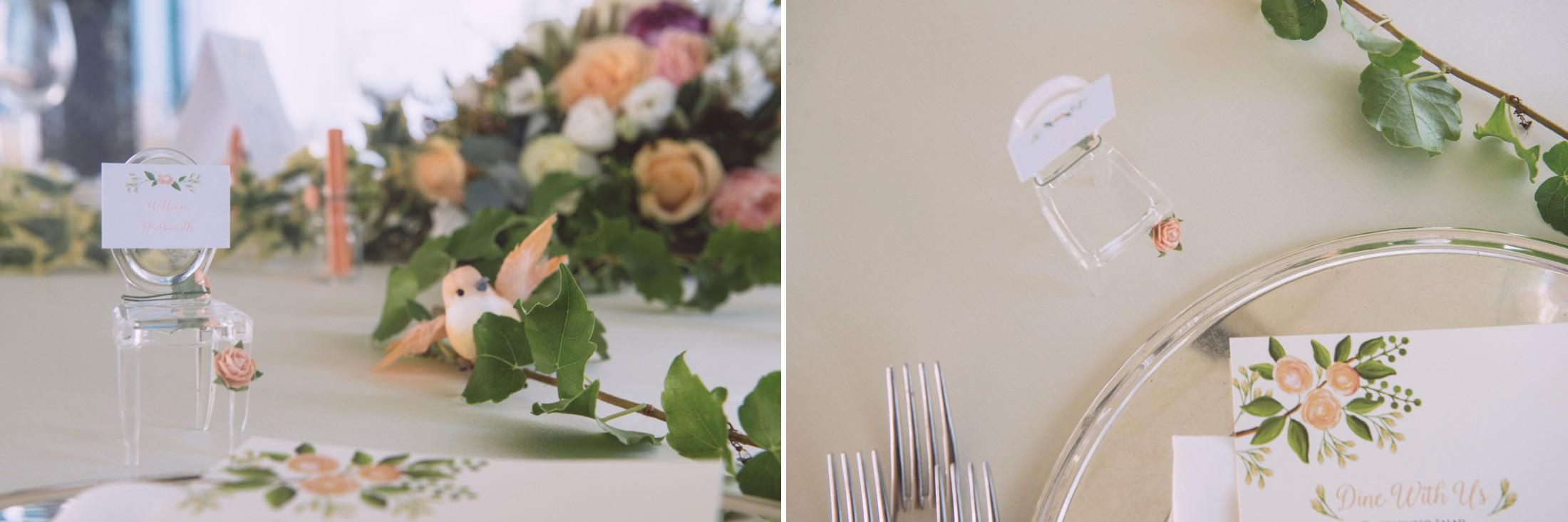 wedding in ravello table setting at villa eva