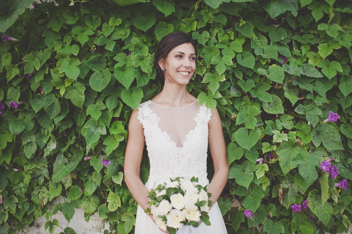 wedding in amalfi bride's portrait