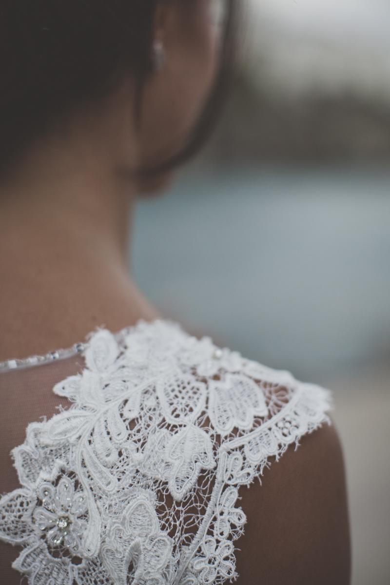 wedding in amalfi bride's dress detail