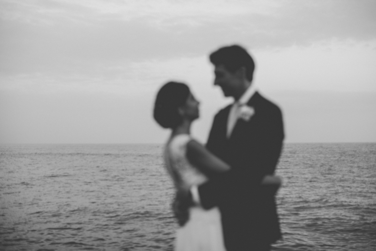 wedding in amalfi bride and groom's portrait by the sea