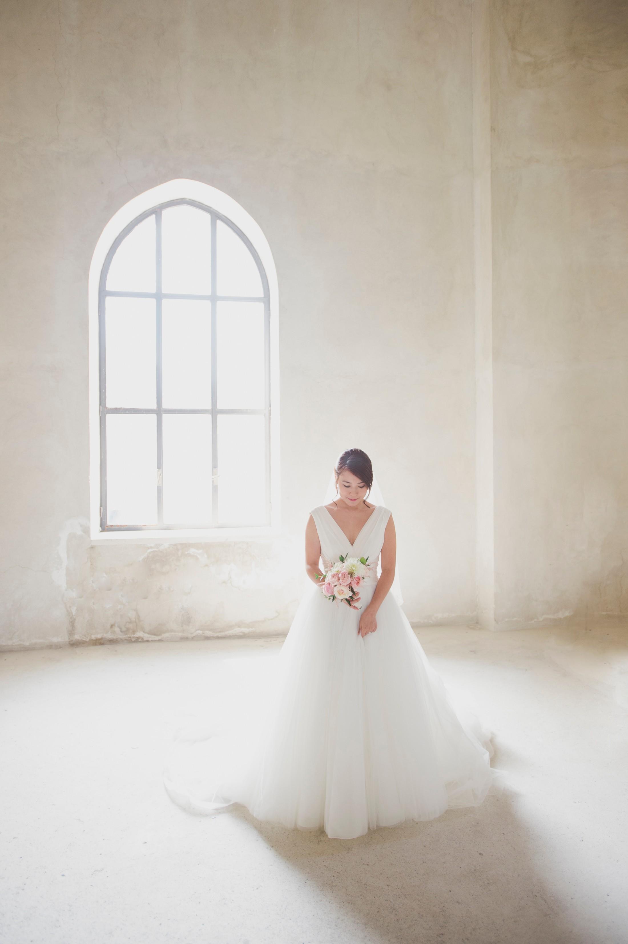 wedding on the amalfi coast bride's portrait inside the church