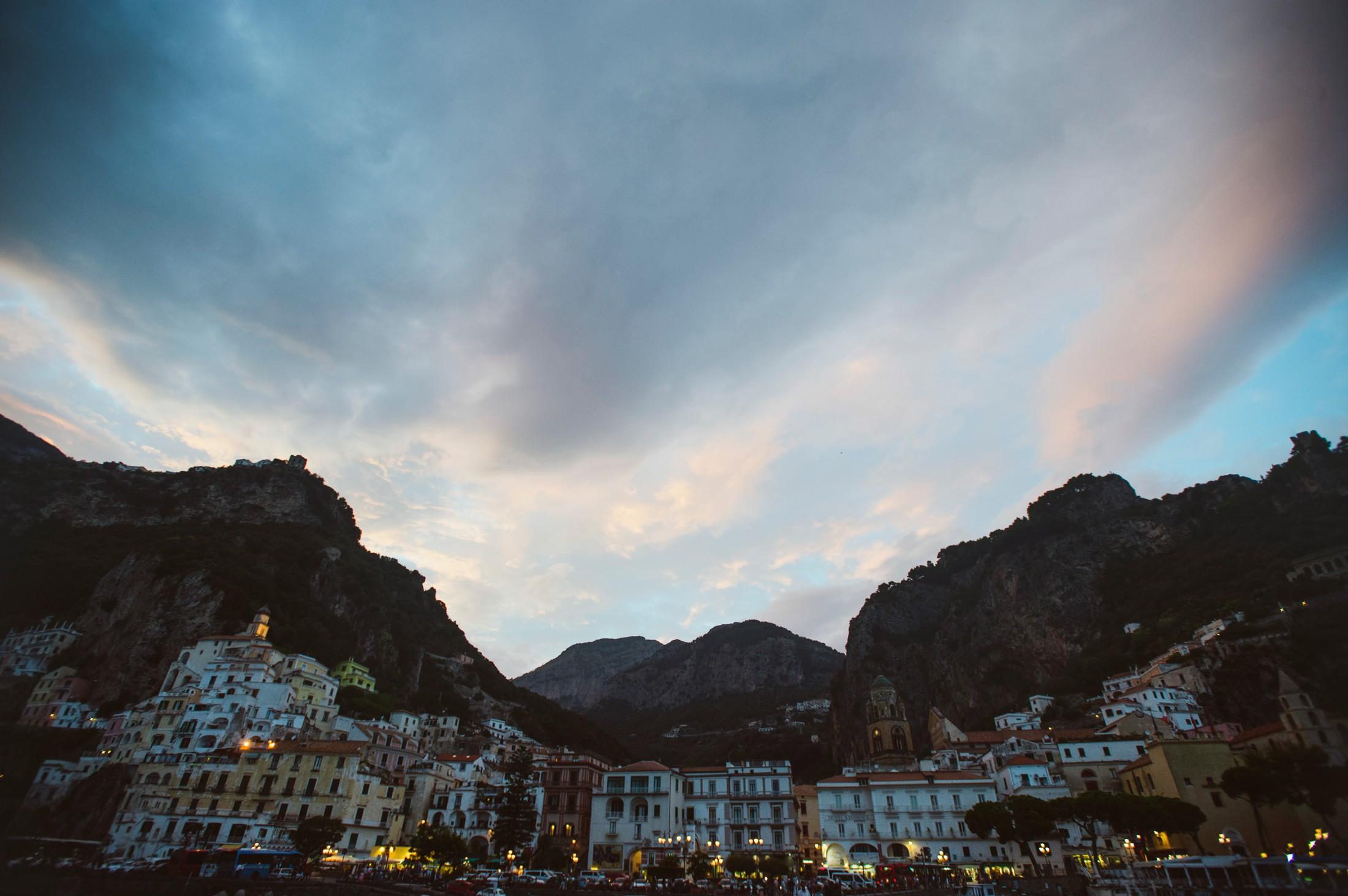 wedding on the amalfi coast amalfi landscape at sunset