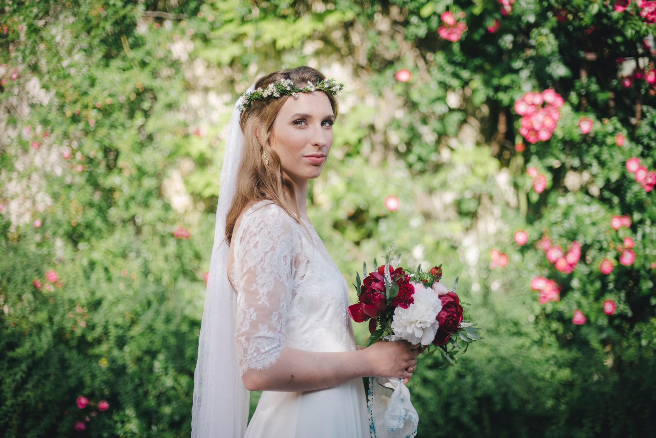wedding in ravello bride's portrait with her bouquet