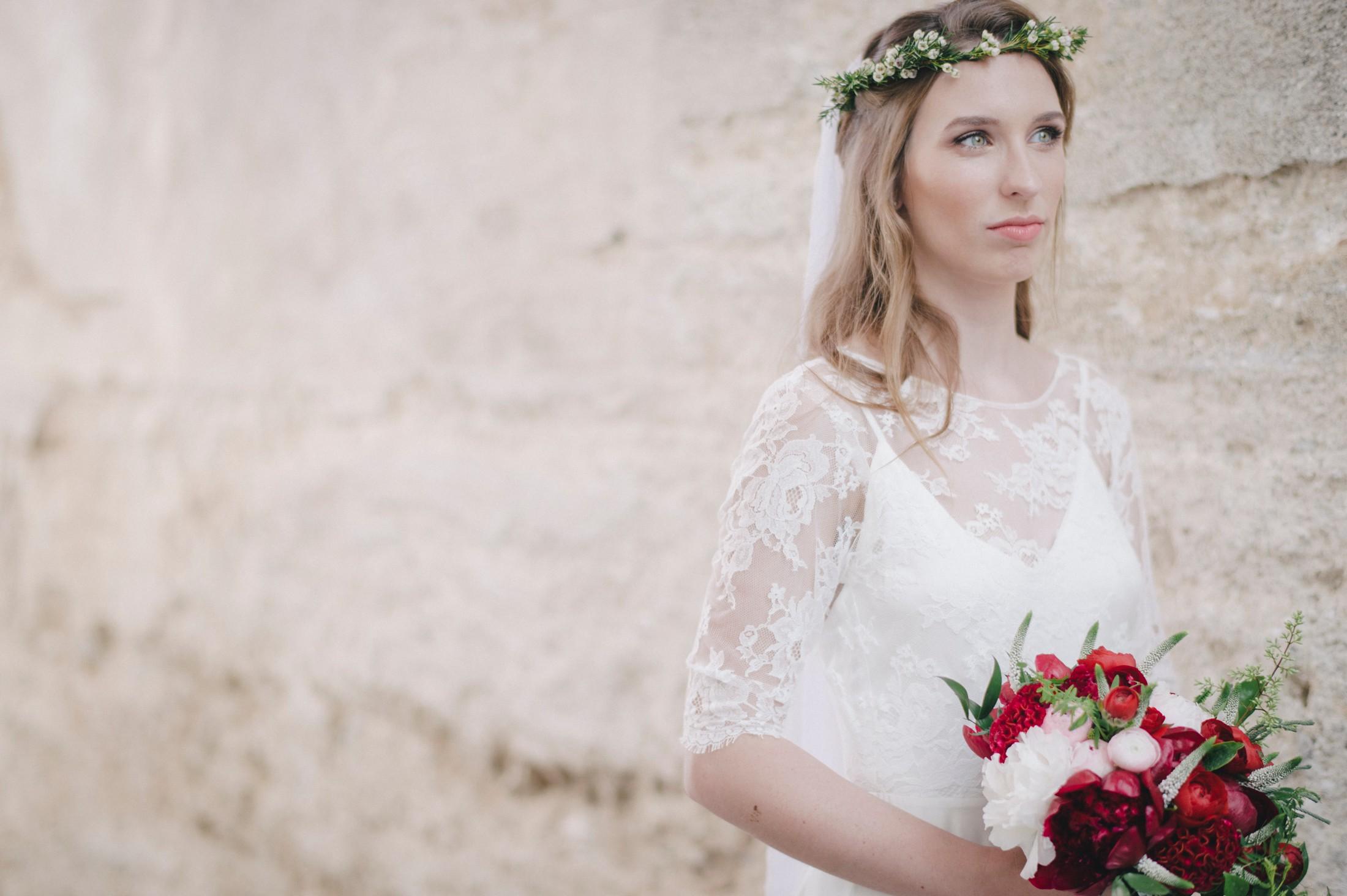 wedding in ravello bride's portrait