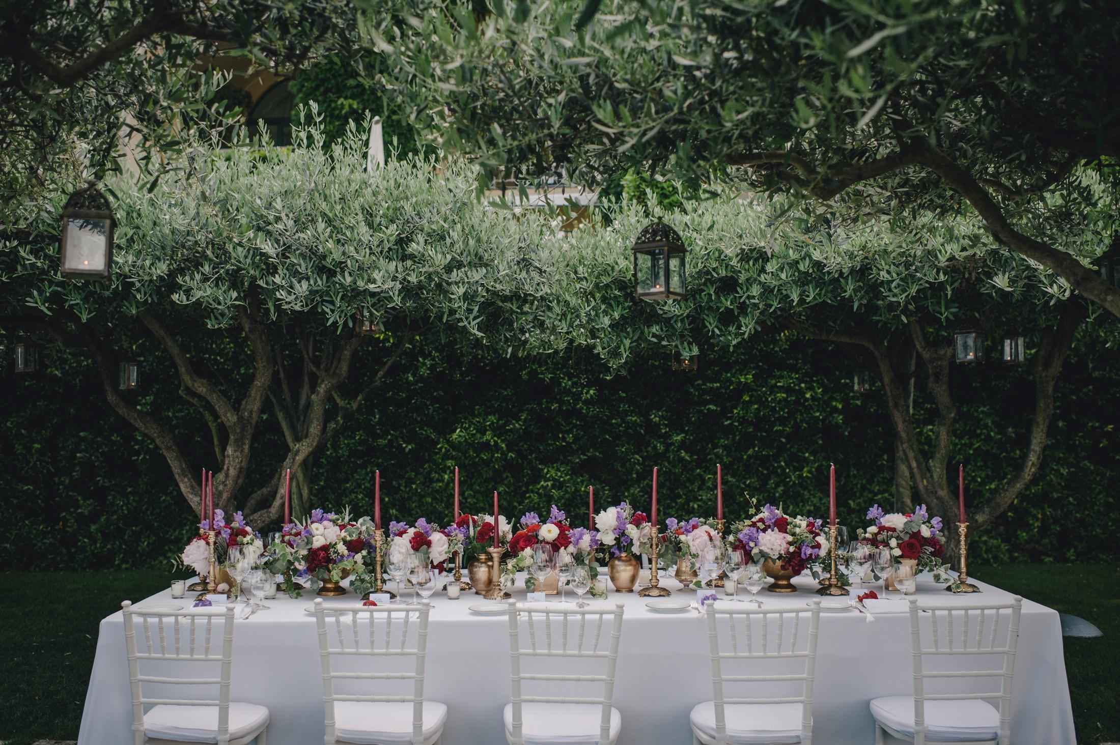 wedding in ravello the wedding table