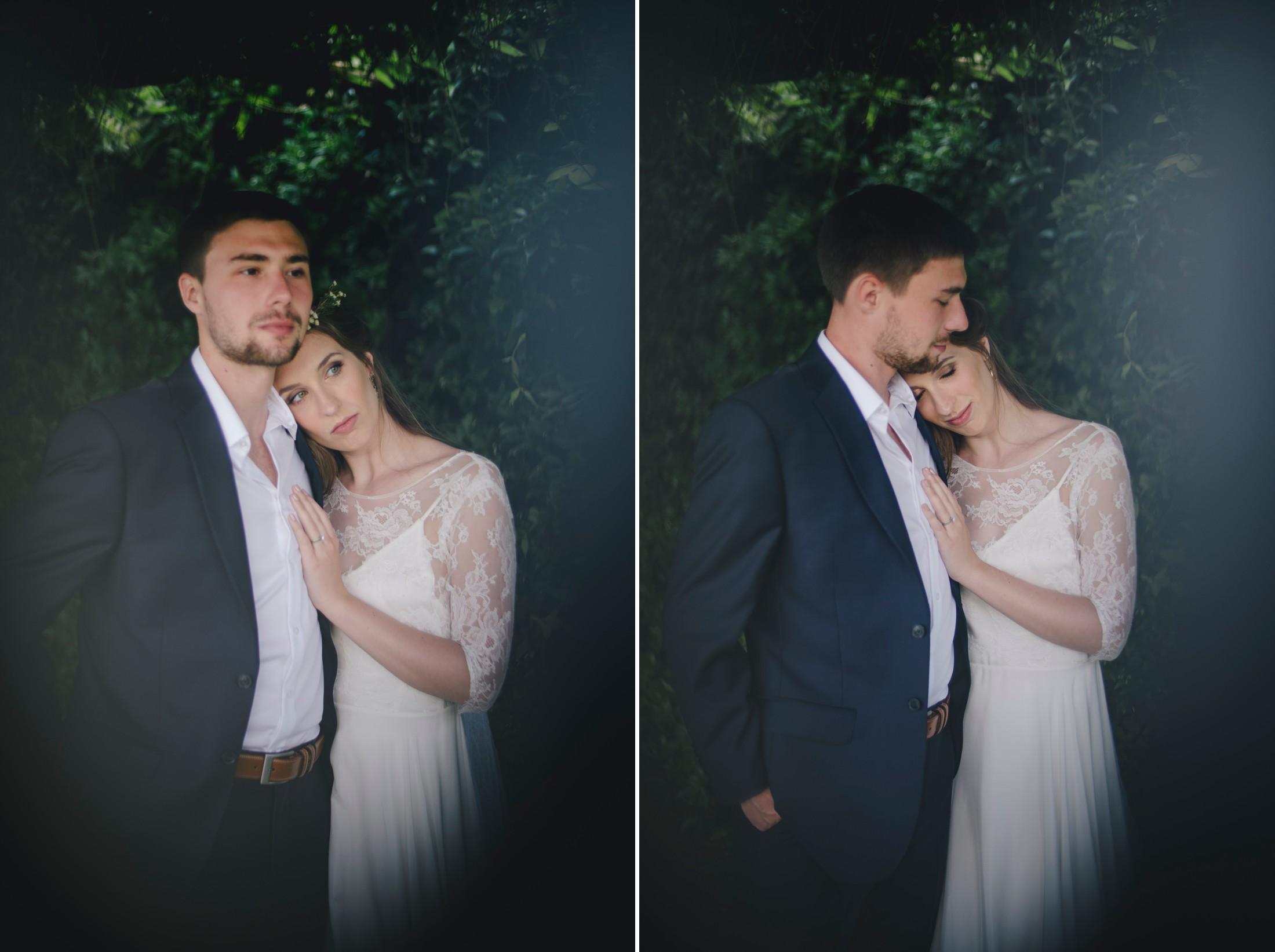 wedding in ravello bride and groom's portrait