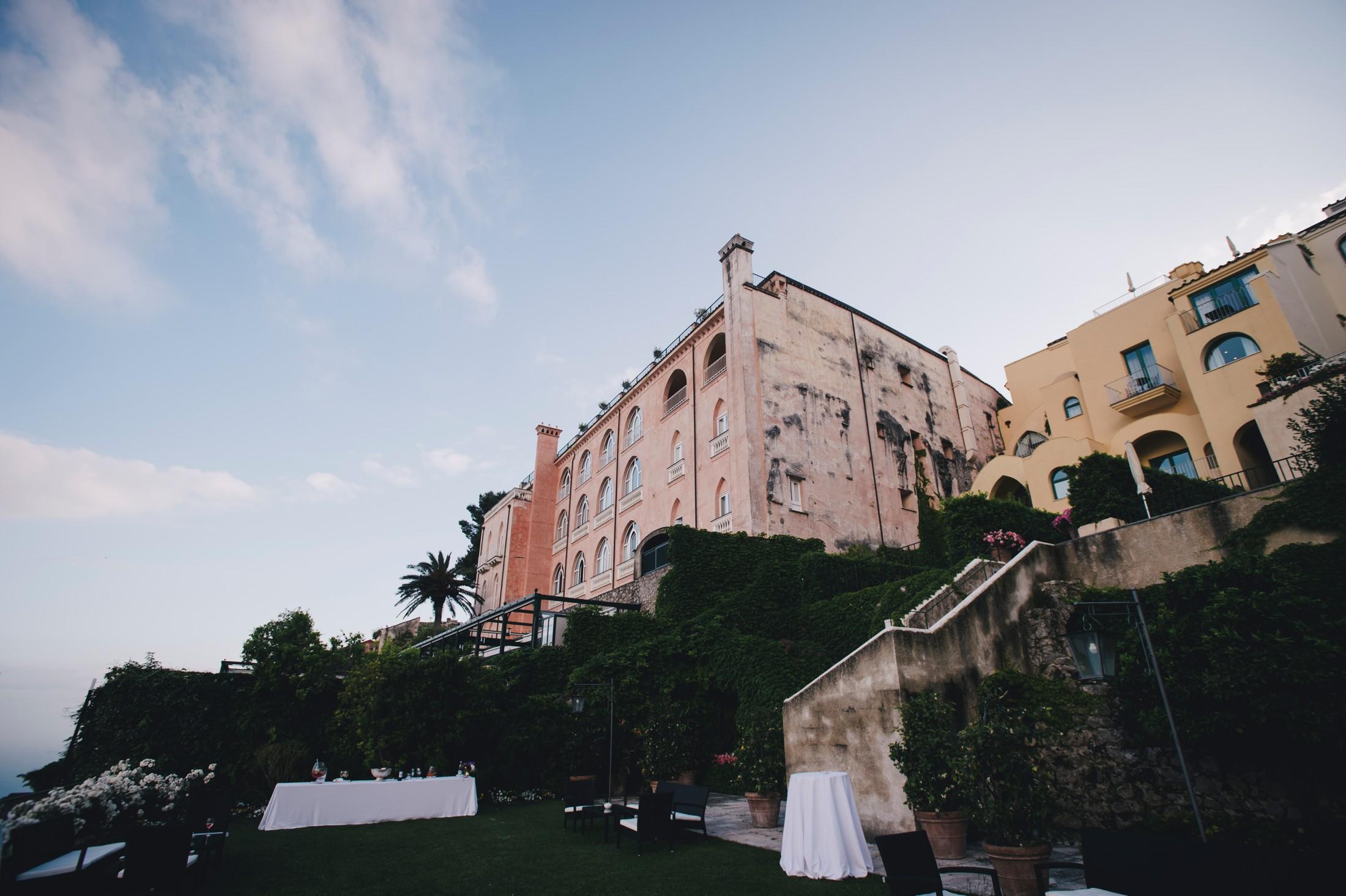 wedding in ravello the hotel caruso