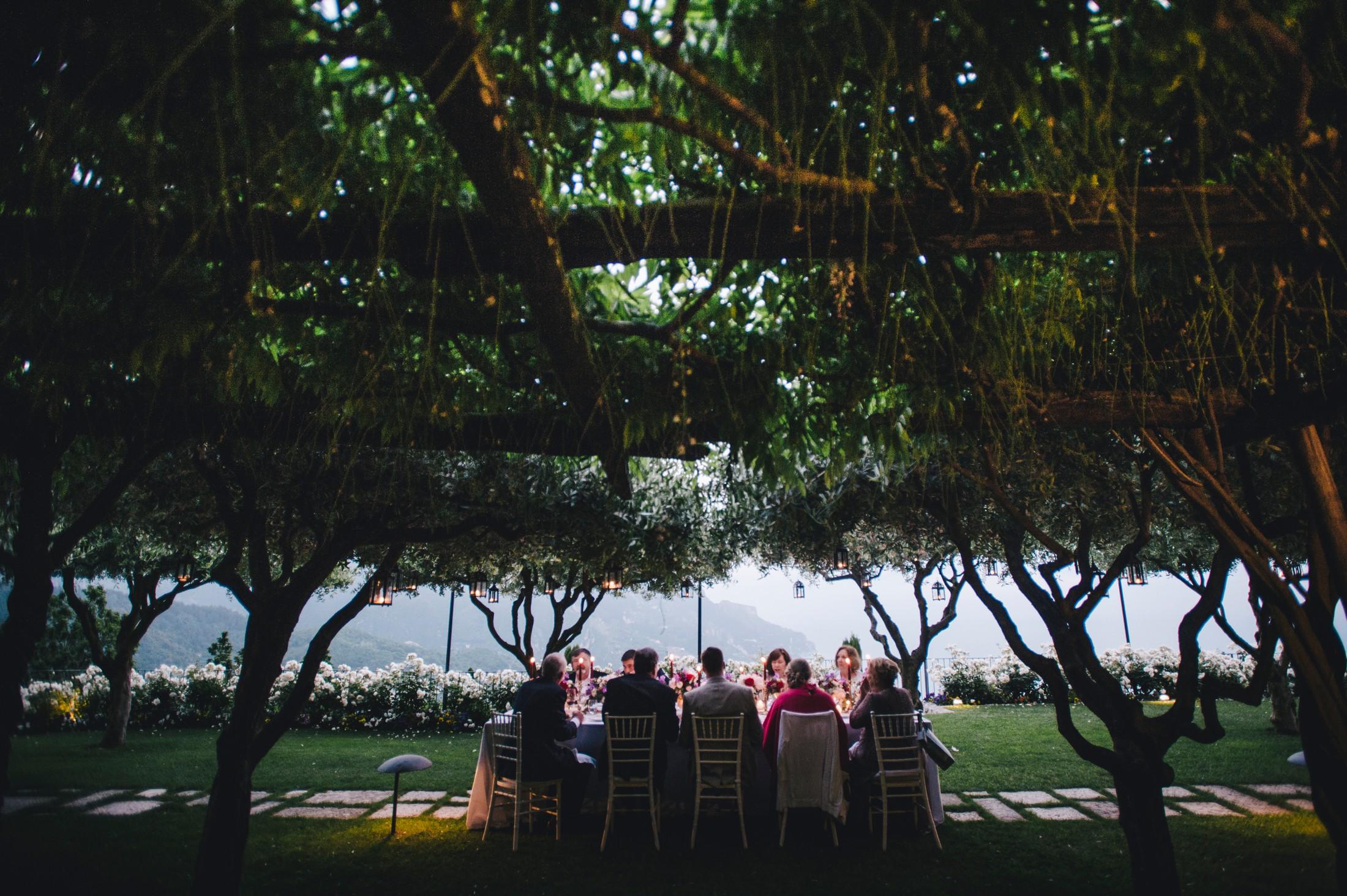 wedding in ravello moment from the wedding dinner