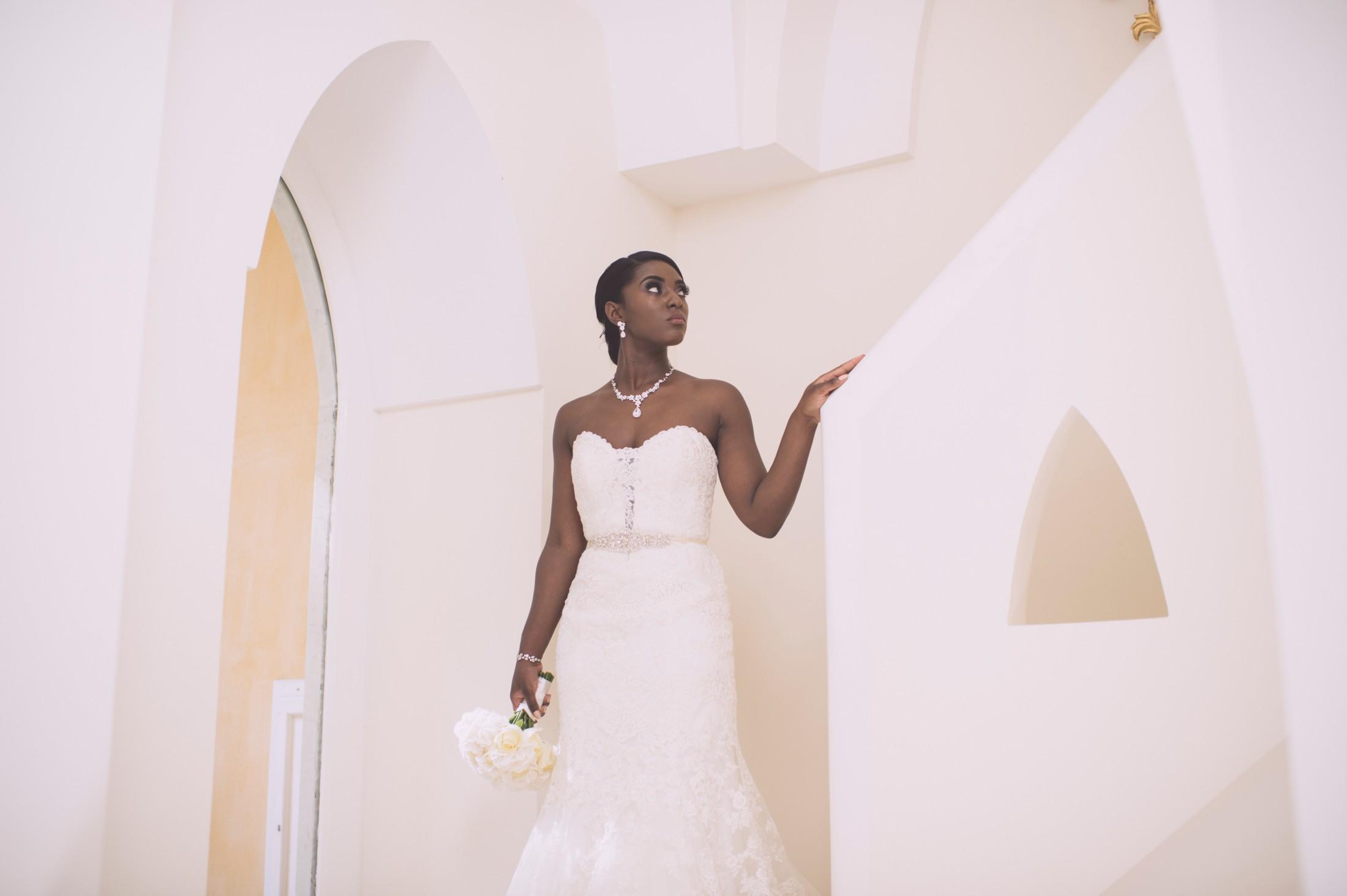wedding in italy bride's portrait