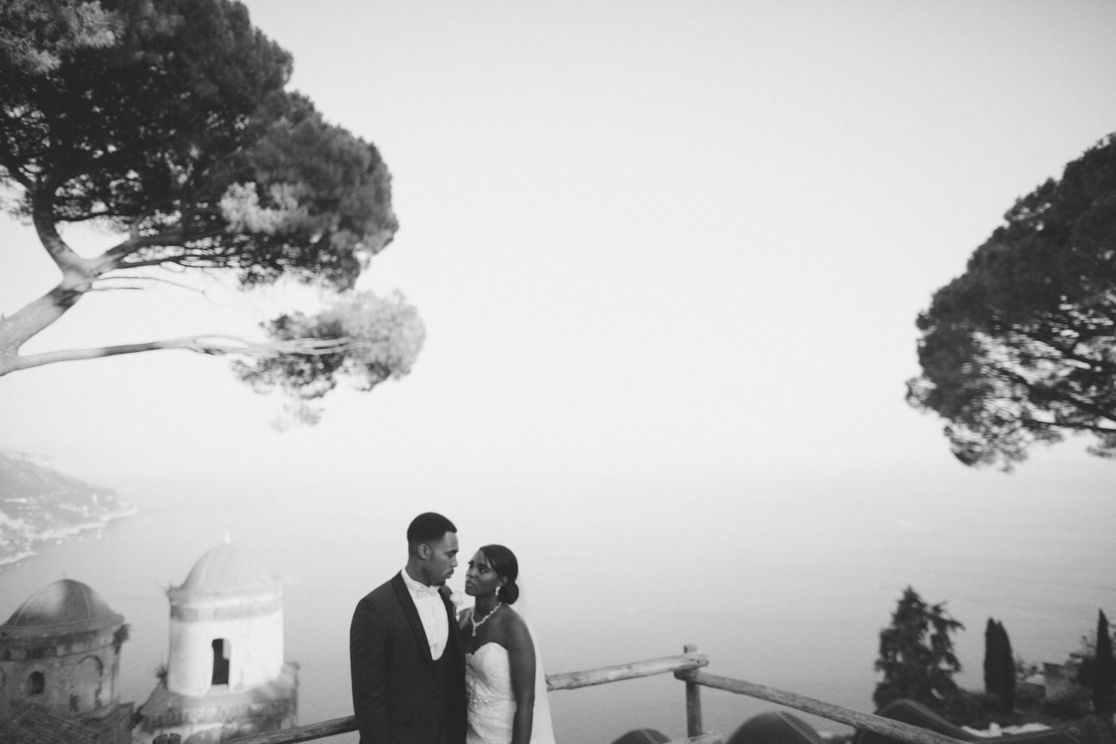 wedding in italy bride and groom's portrait