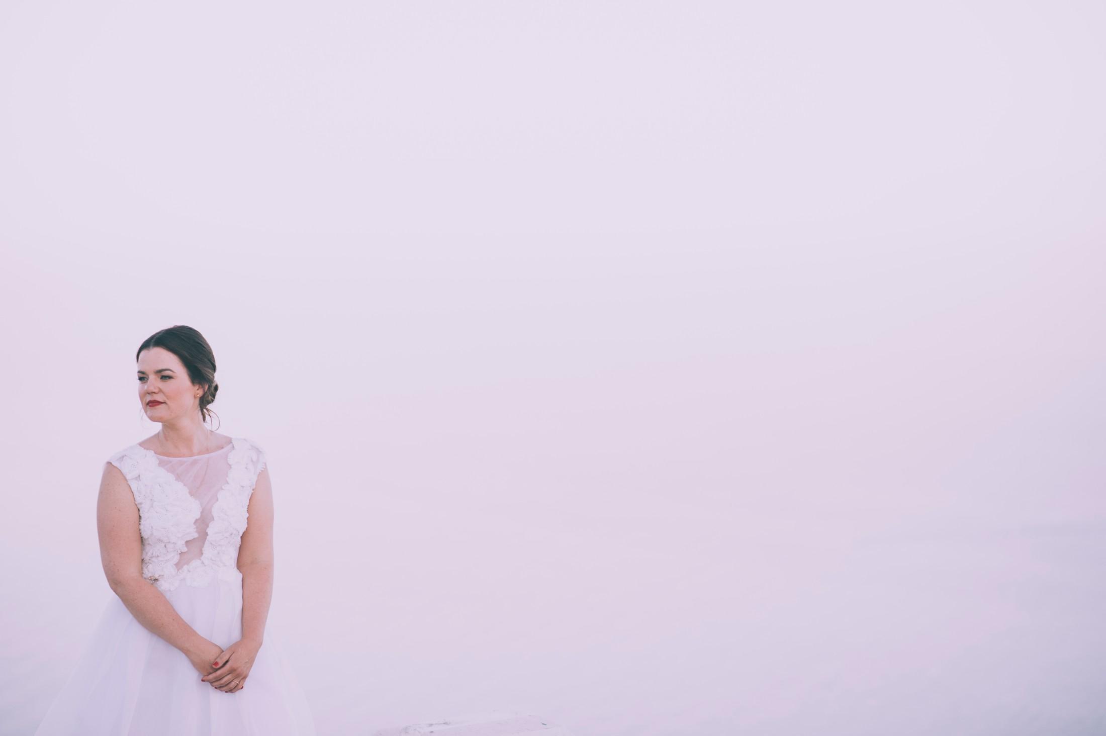 rustic wedding in ravello bride's portrait