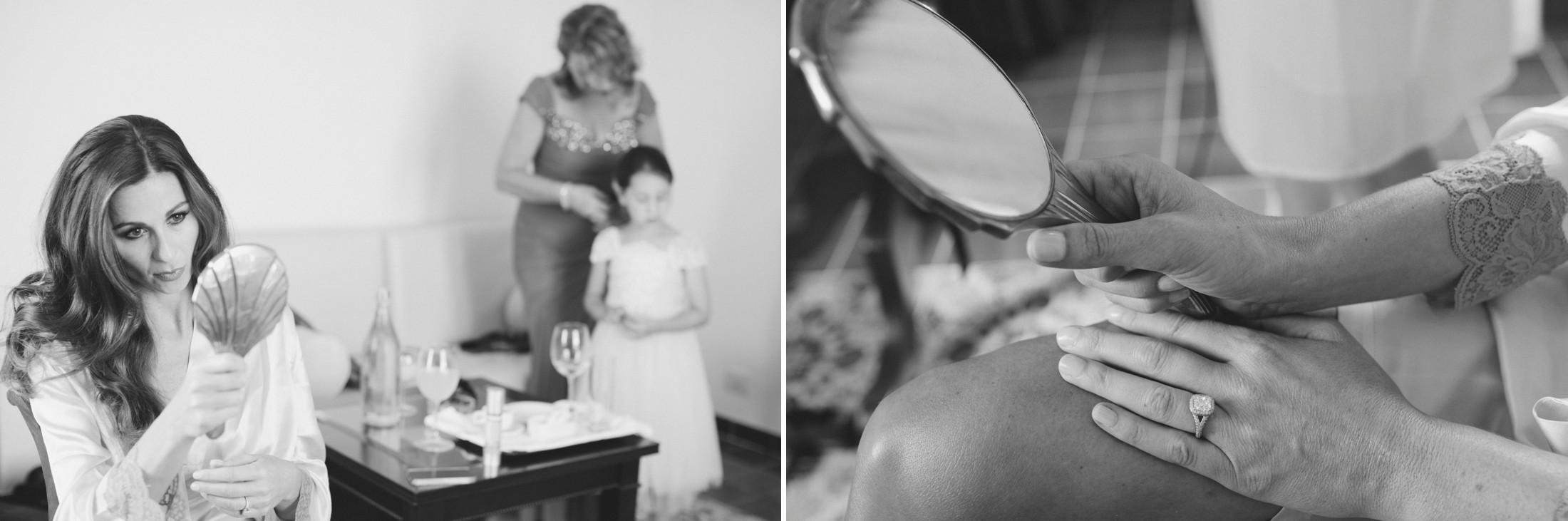 wedding at villa cimbrone bride getting ready