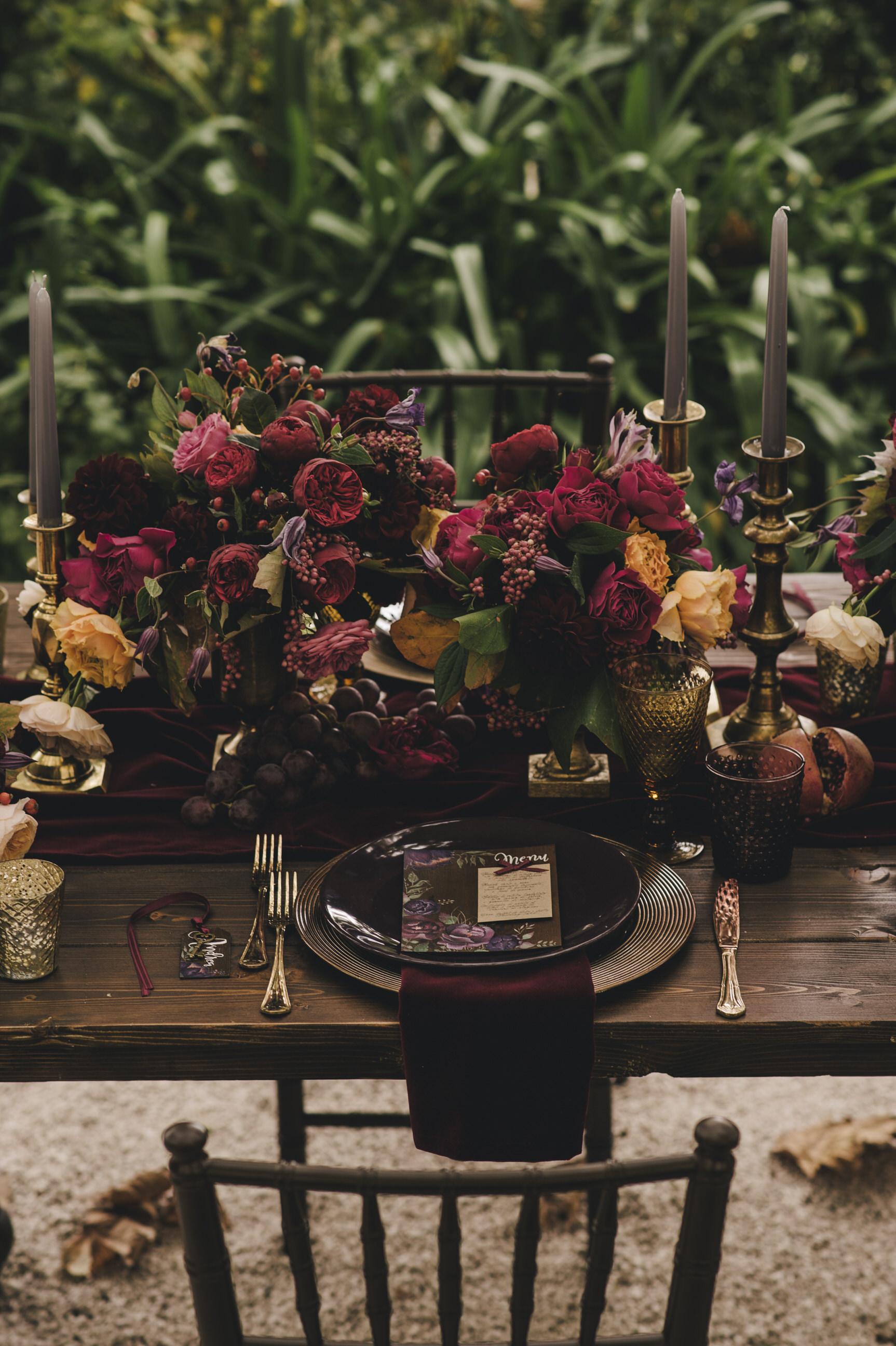 moody wedding table