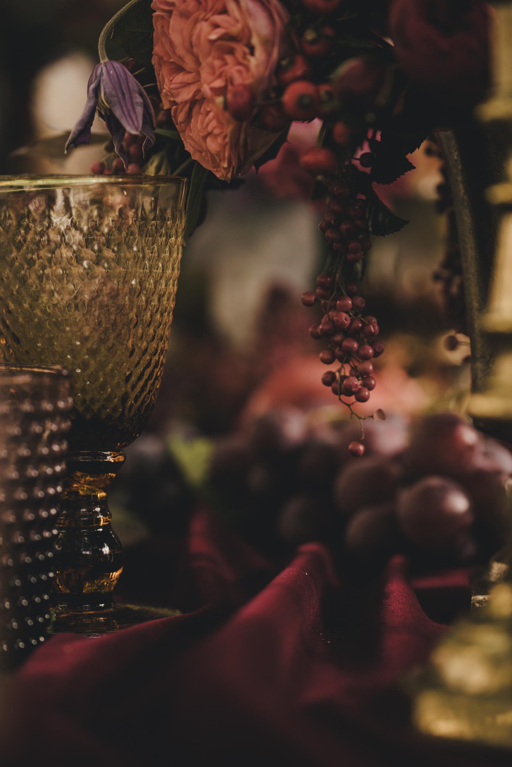 moody wedding table decor