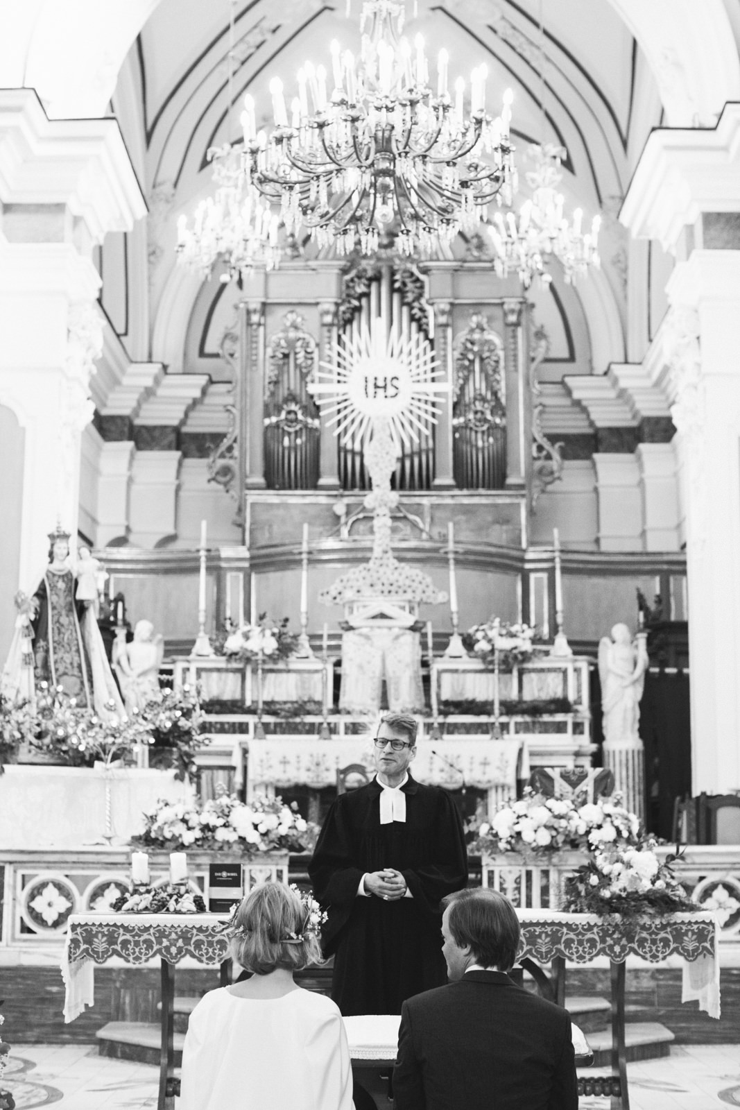 the priest during the ceremony