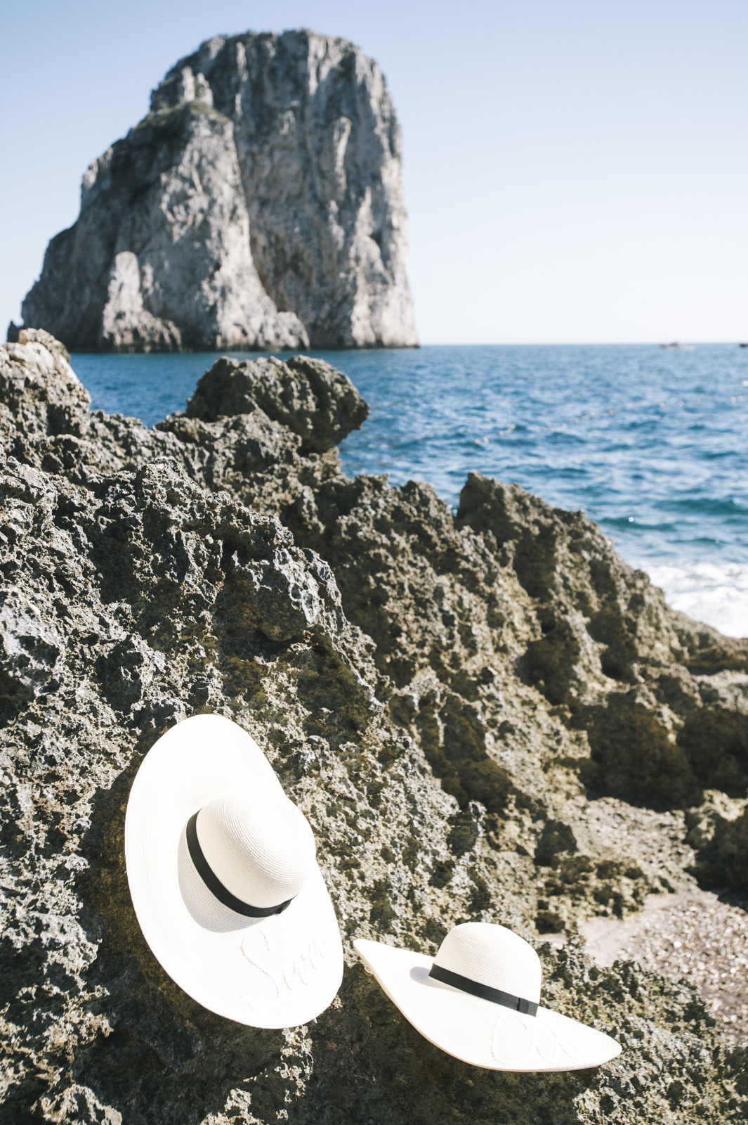 two borsalino on the cliffs
