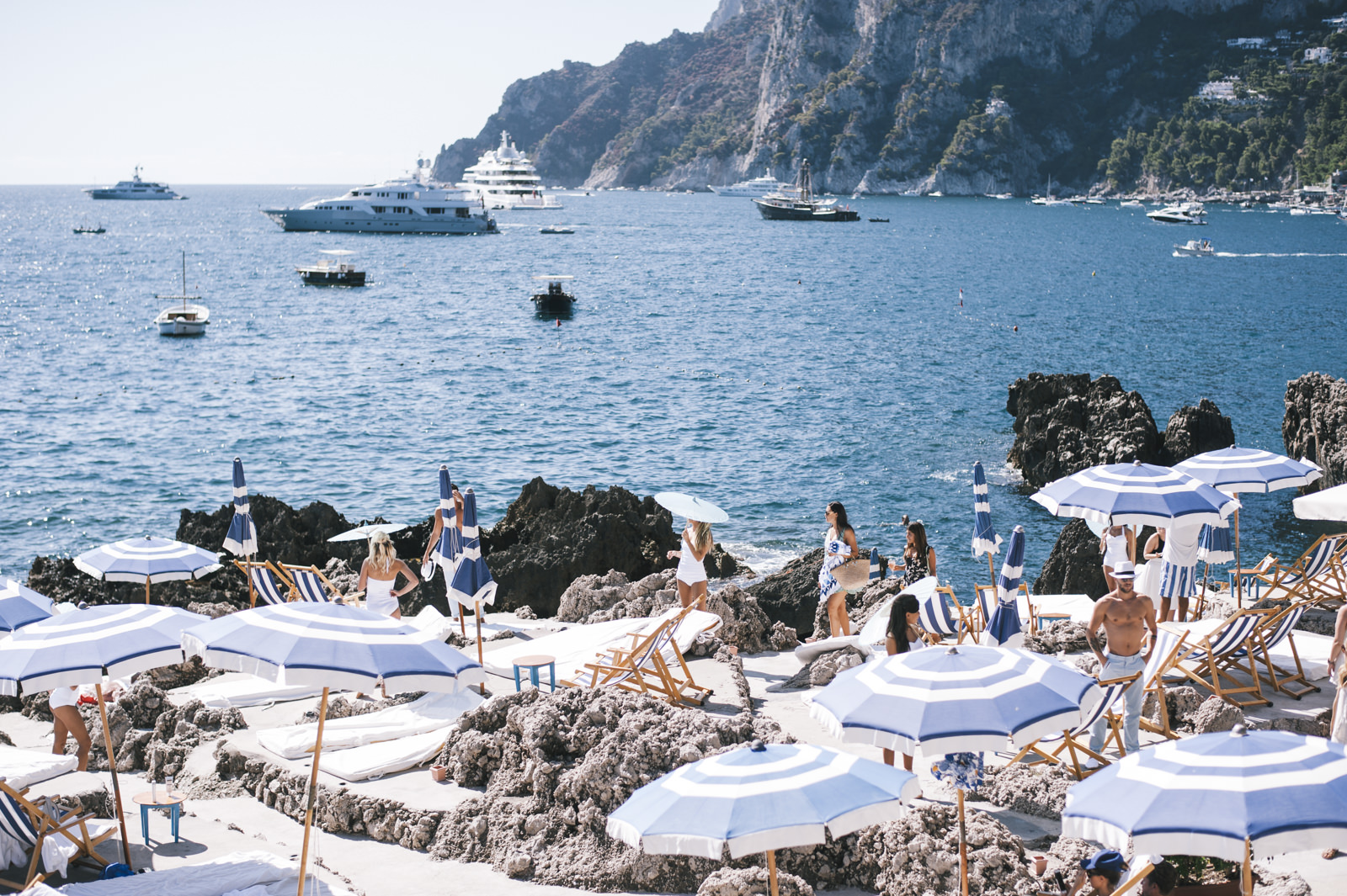 people during a party in capri