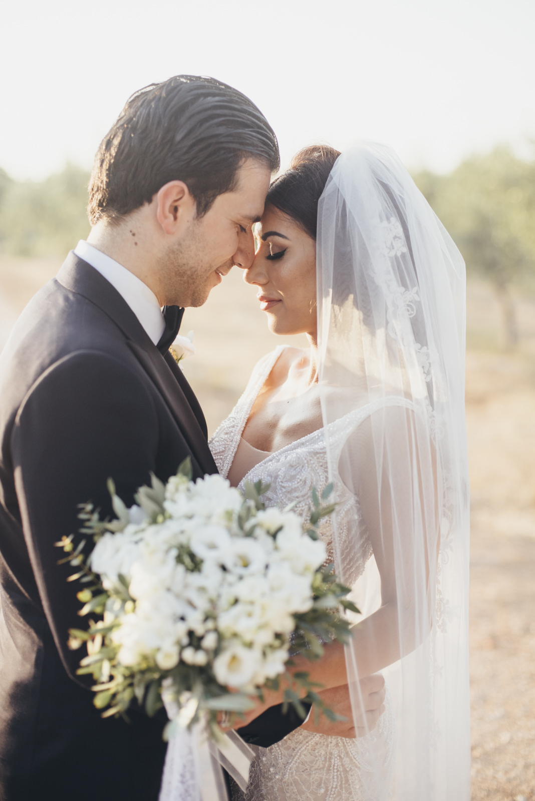 bride and groom's portrait