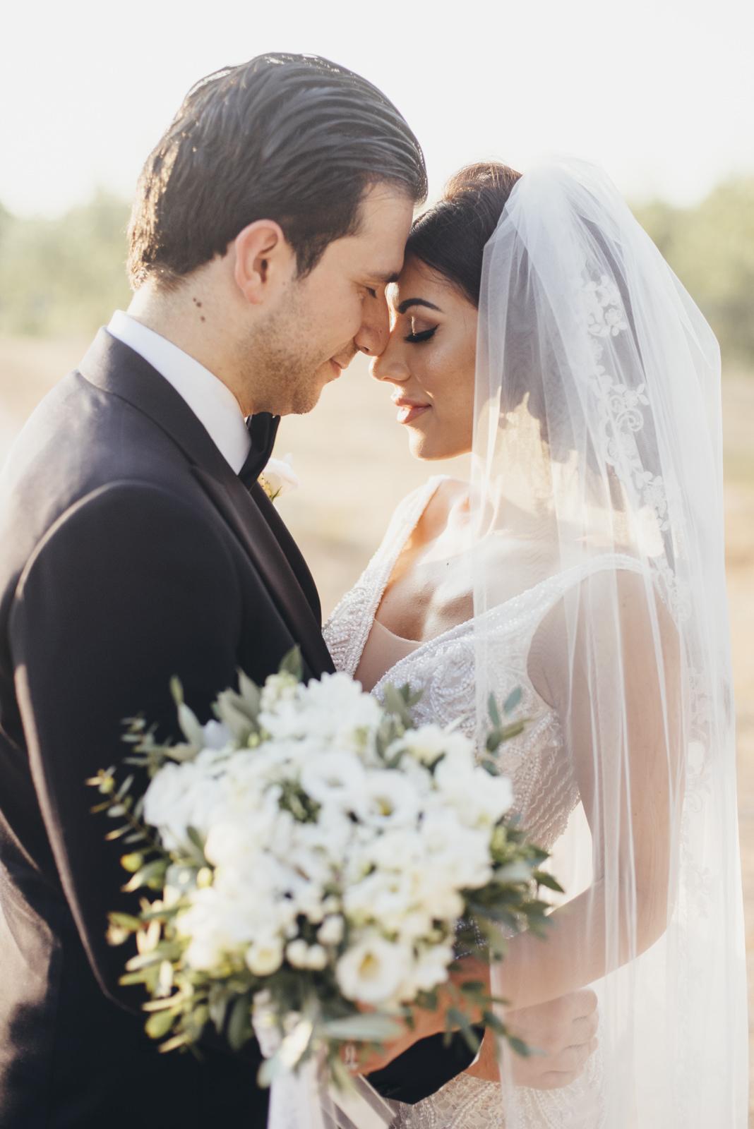 bride and groom's portrait
