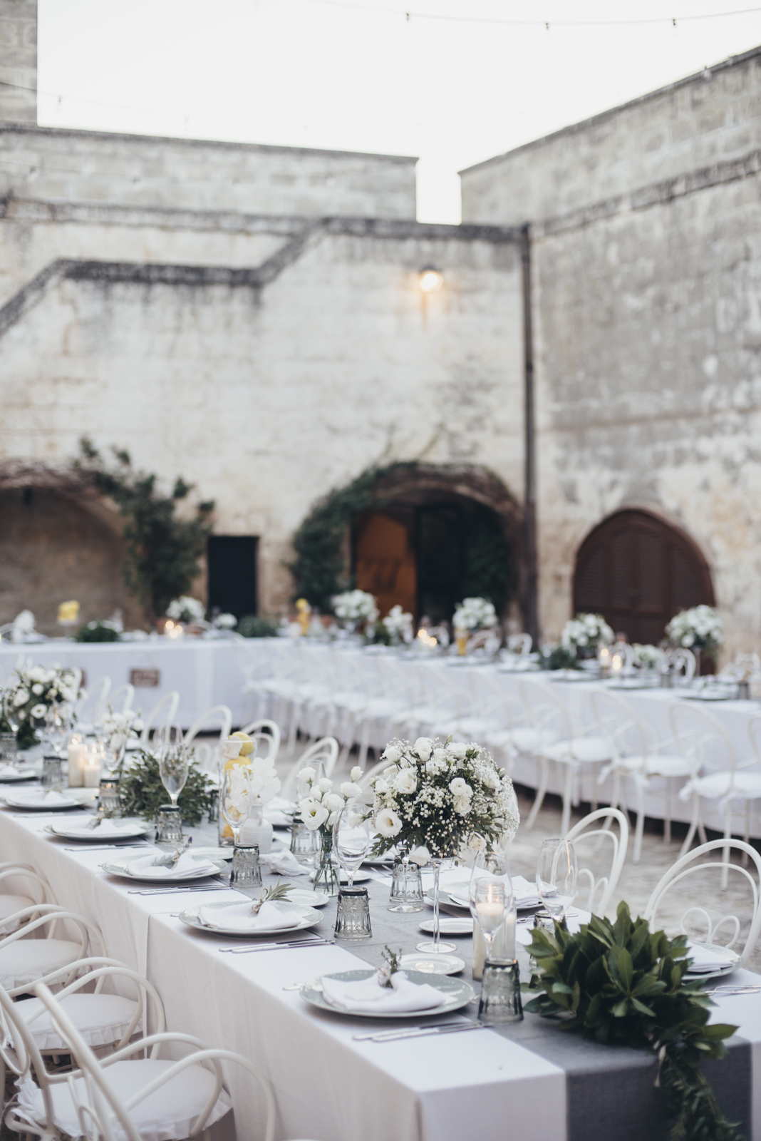 wedding table at masseria salamina