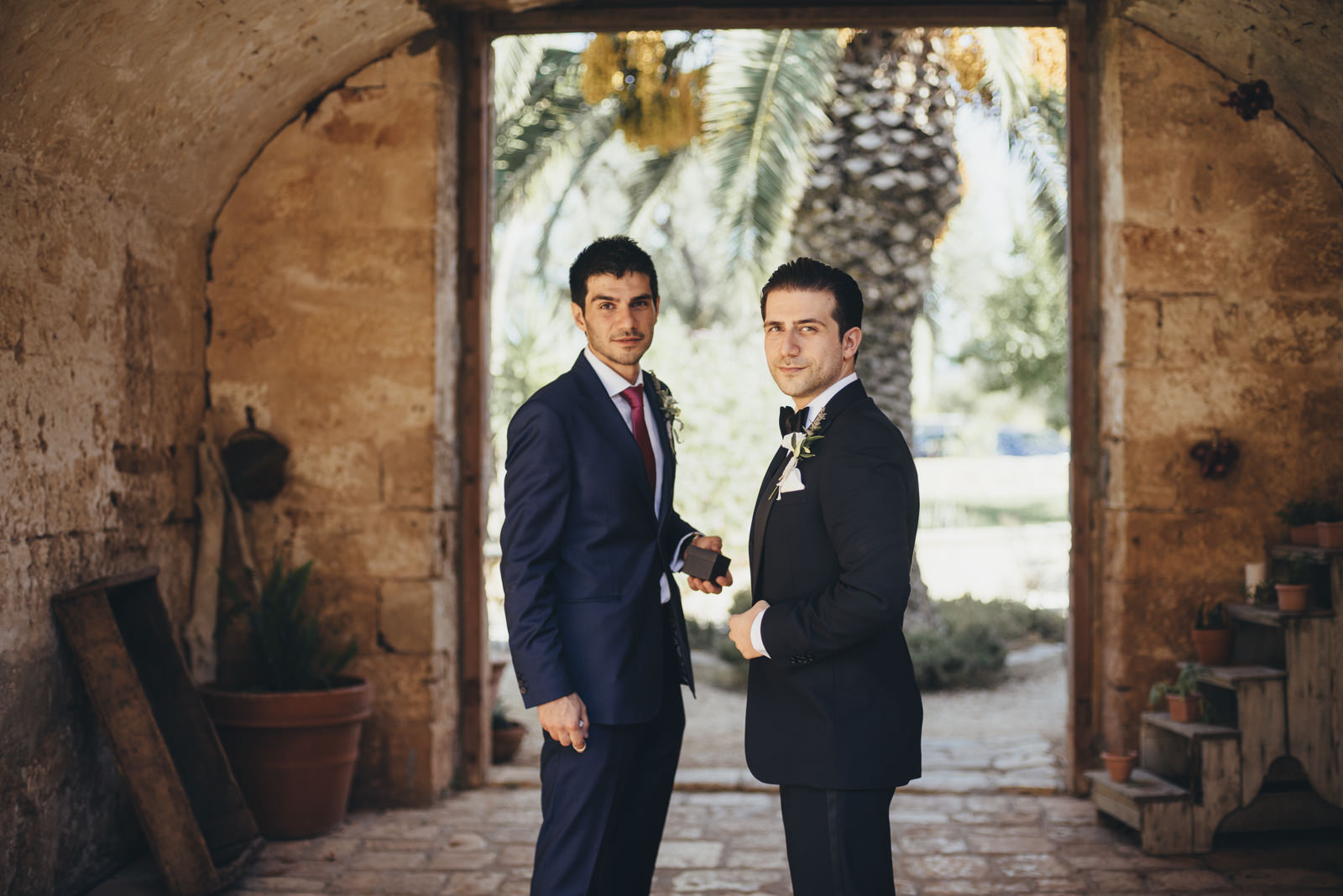 the groom with his best man