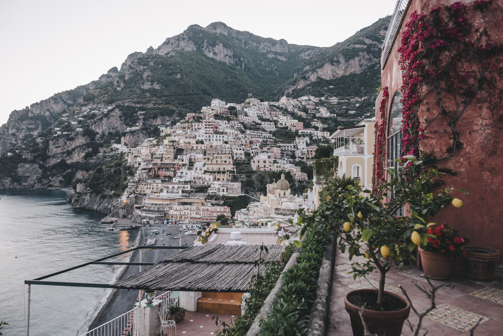 the view of positano from the hotel marincanto