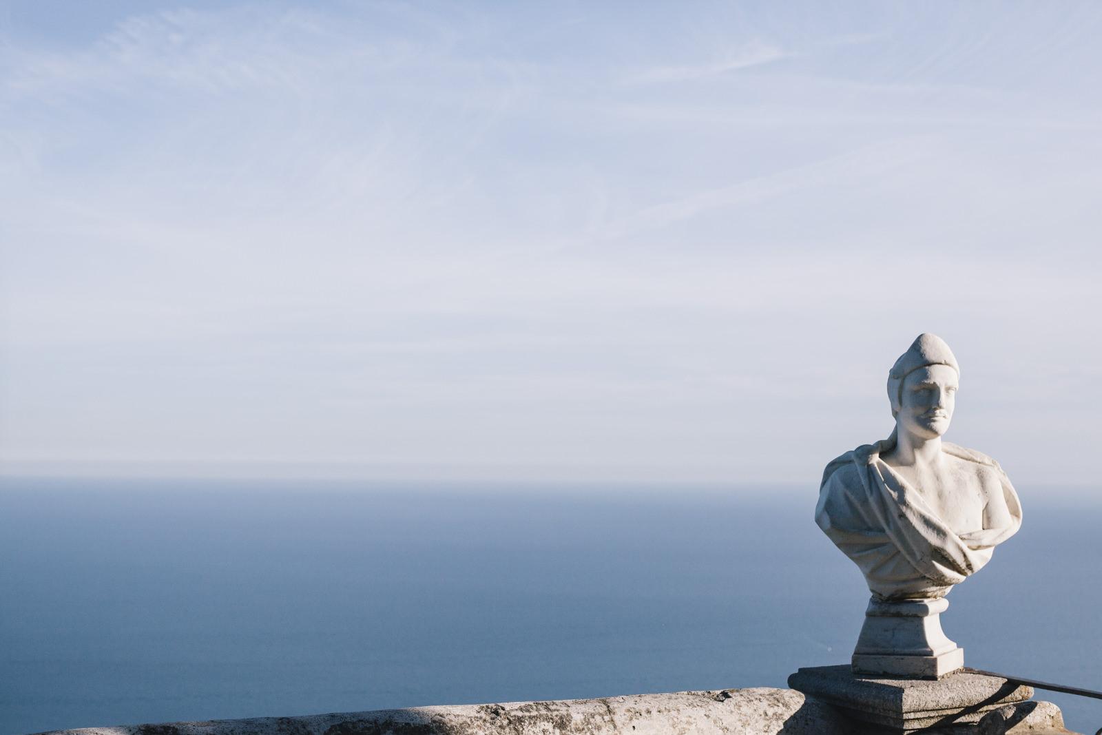 marble statue in villa cimbrone