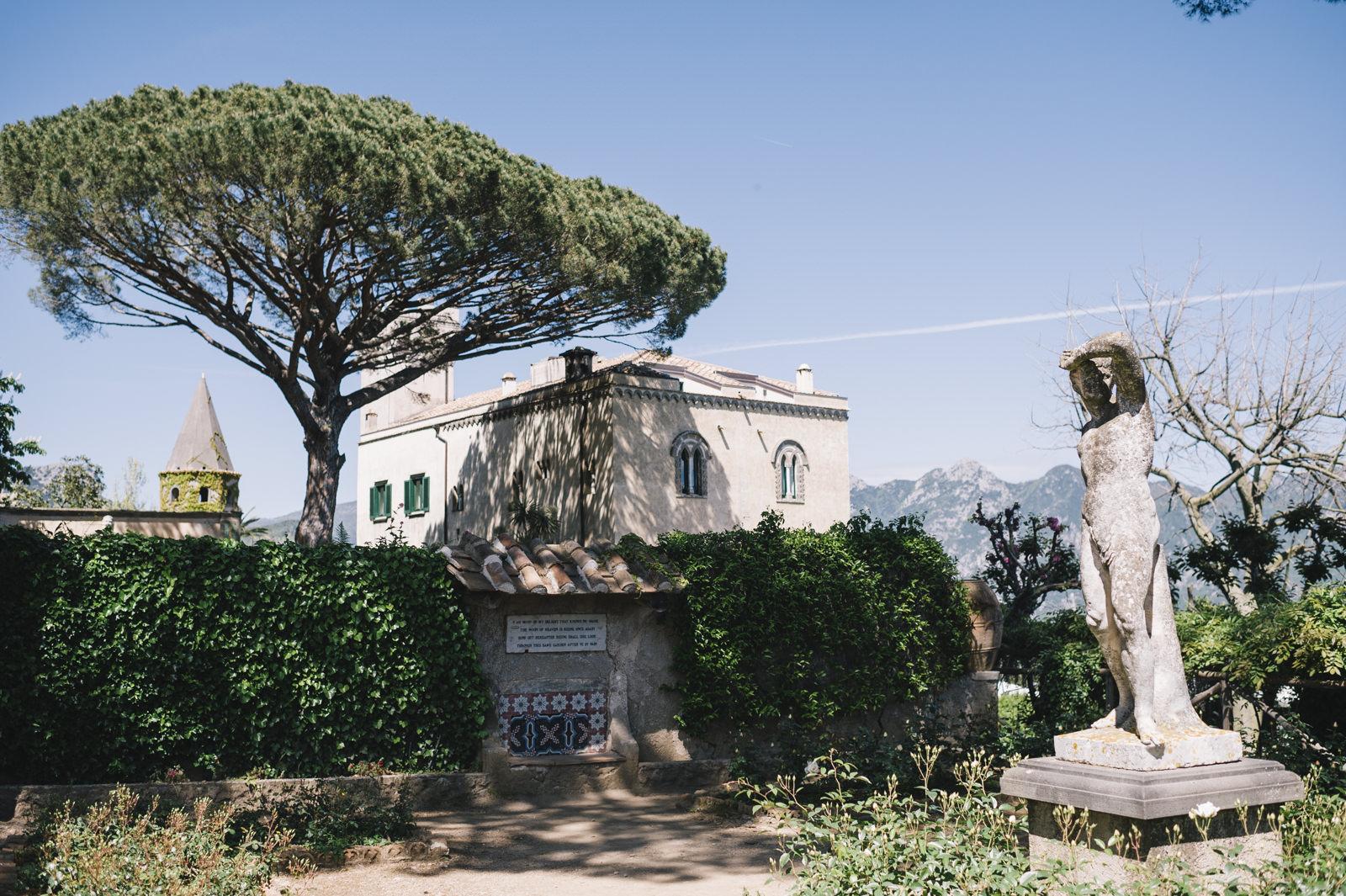 garden at villa cimbrone