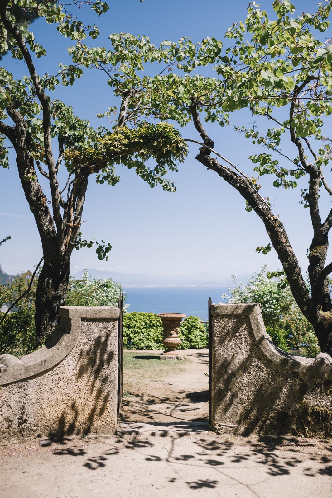 small door at villa cimbrone