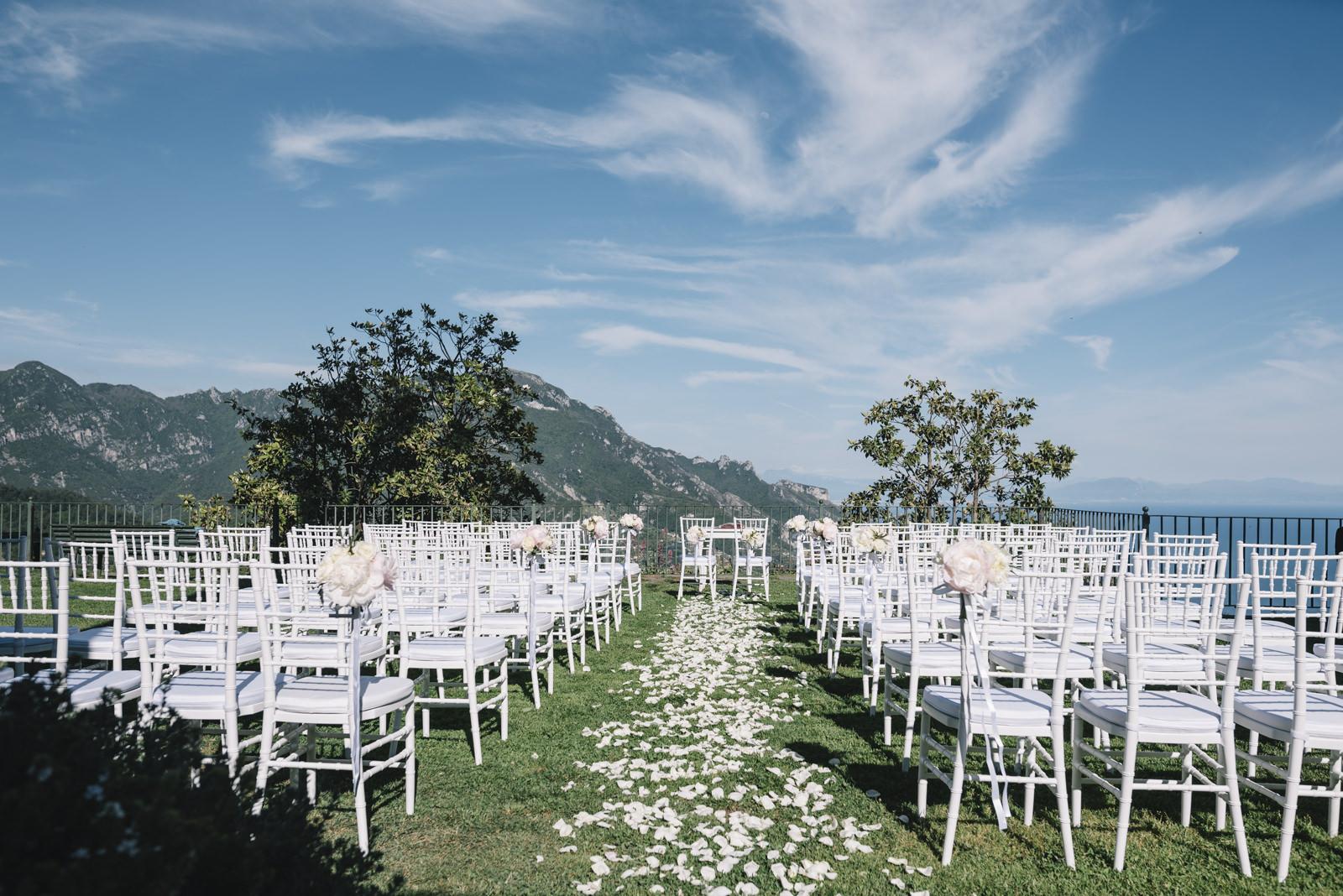 ceremony setting at Principessa di Piedimonte in Ravello