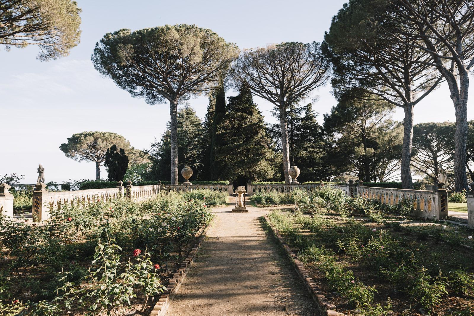 the rose garden in villa cimbrone