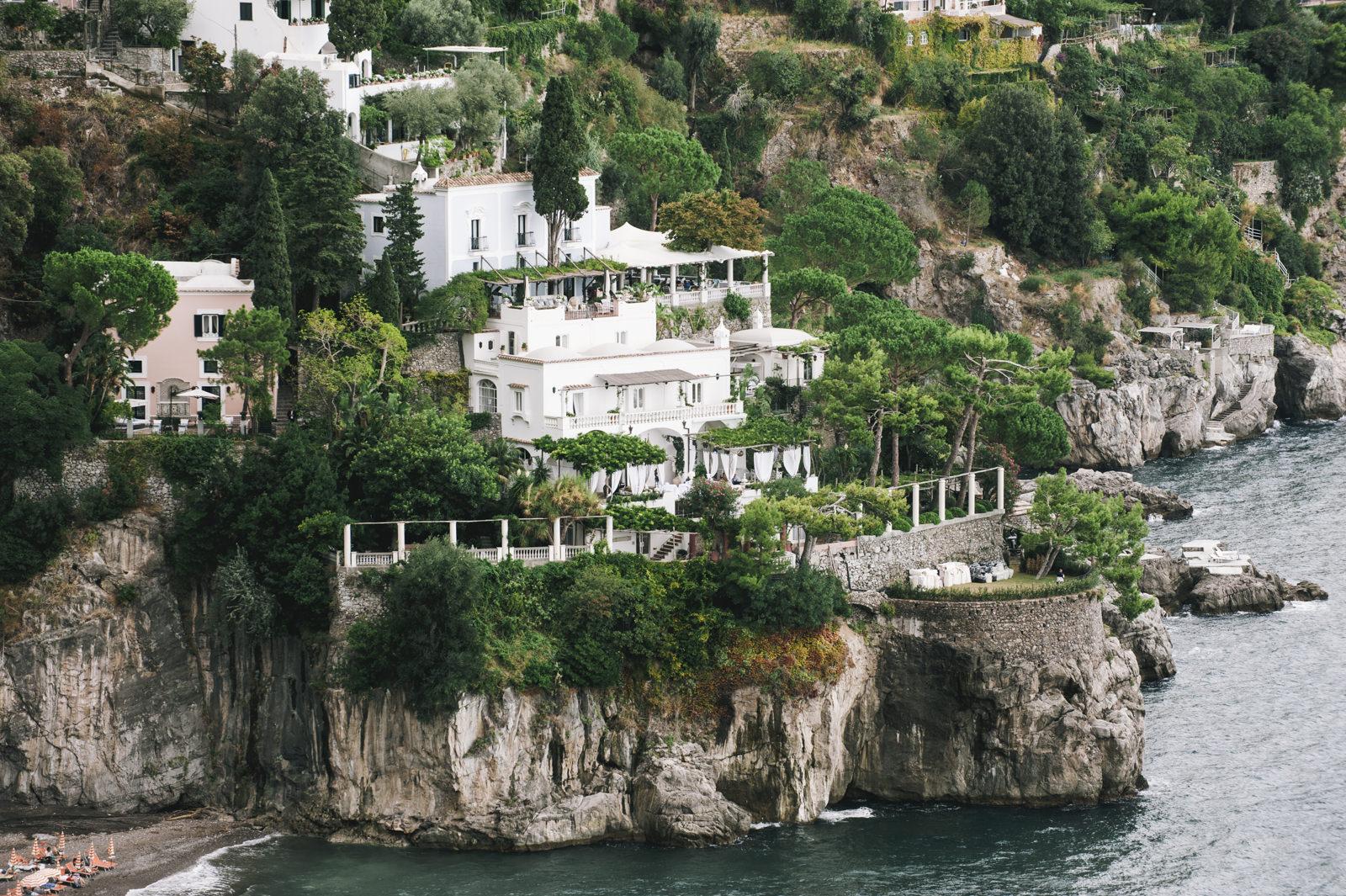 villa tre ville wedding location in positano