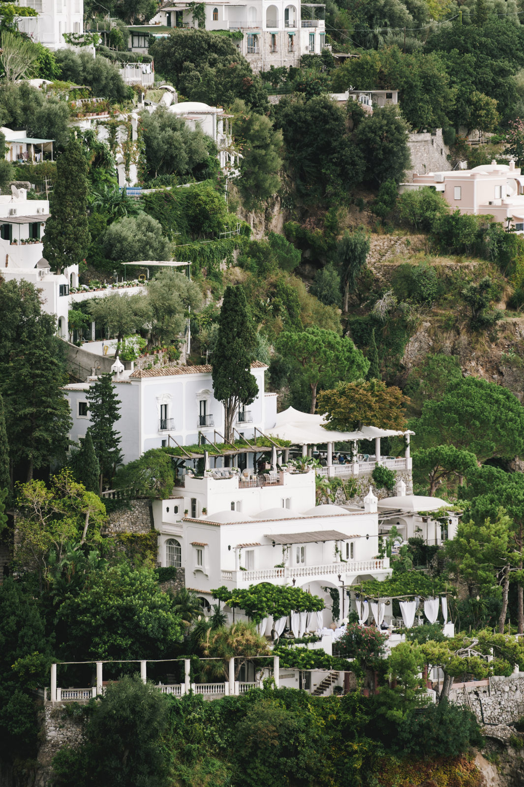villa tre ville wedding location in positano