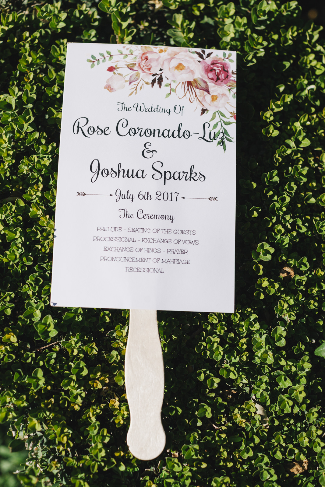 invitation card on green grass