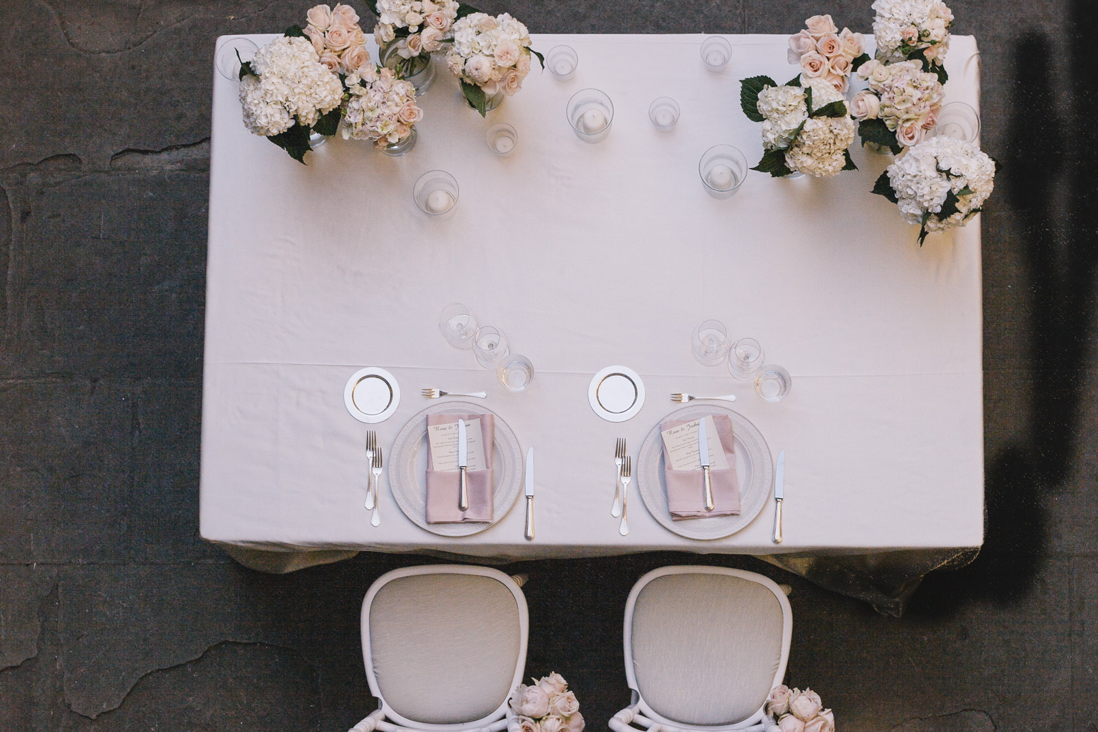 wedding table from high