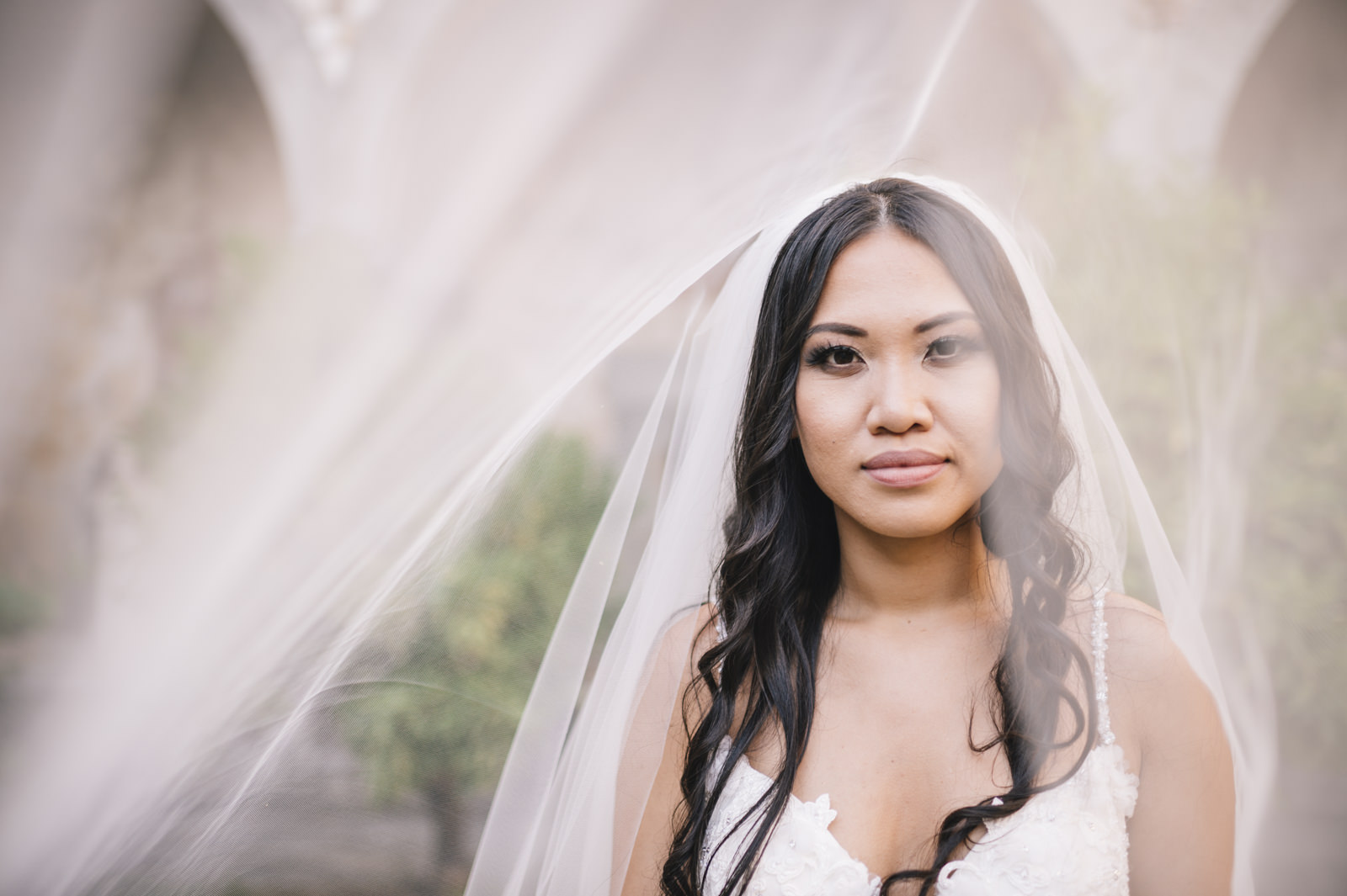 bride's portrait with her veil
