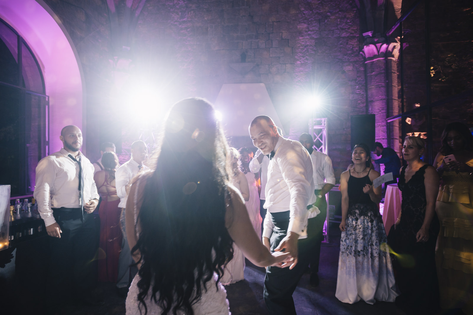 bride and groom during the first dance