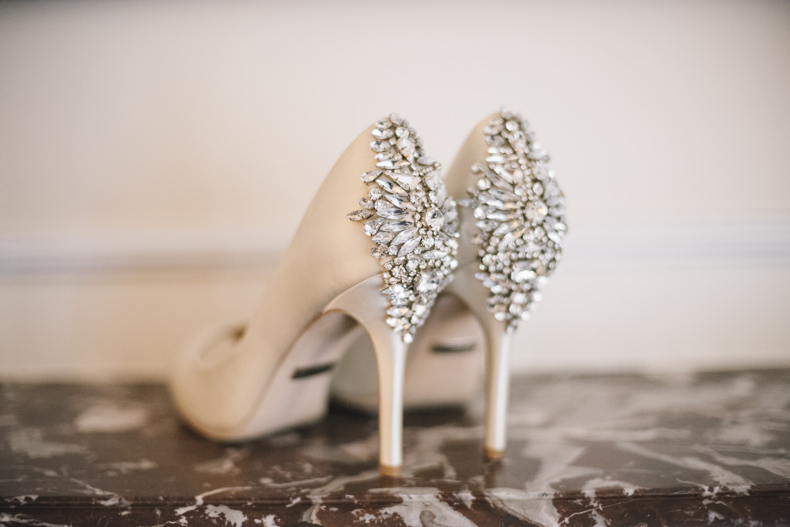 bride's shoes detail