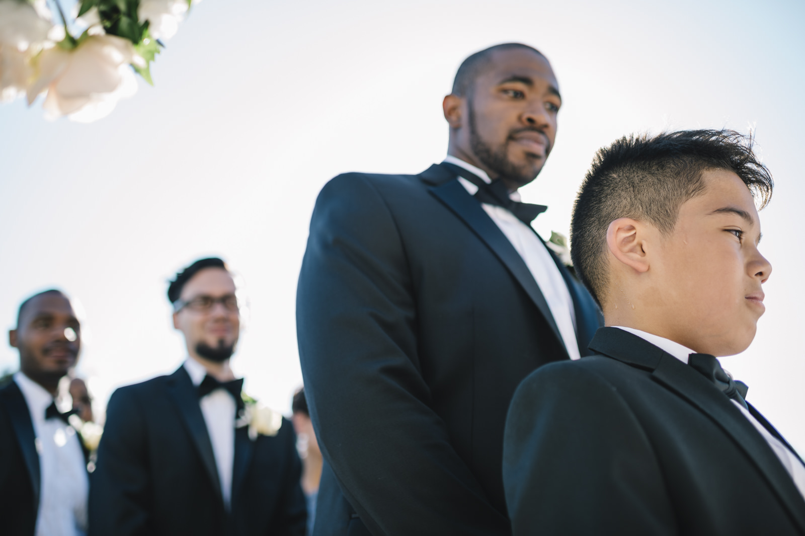 best men during the ceremony