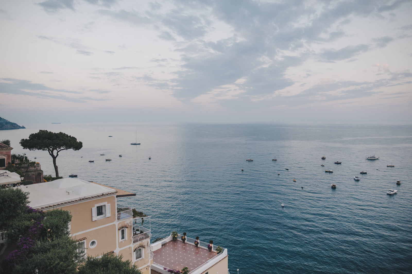 a view of the hotel Maricnanto in Positano