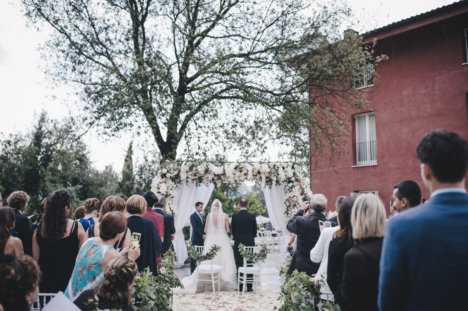 view of the wedding ceremony setting