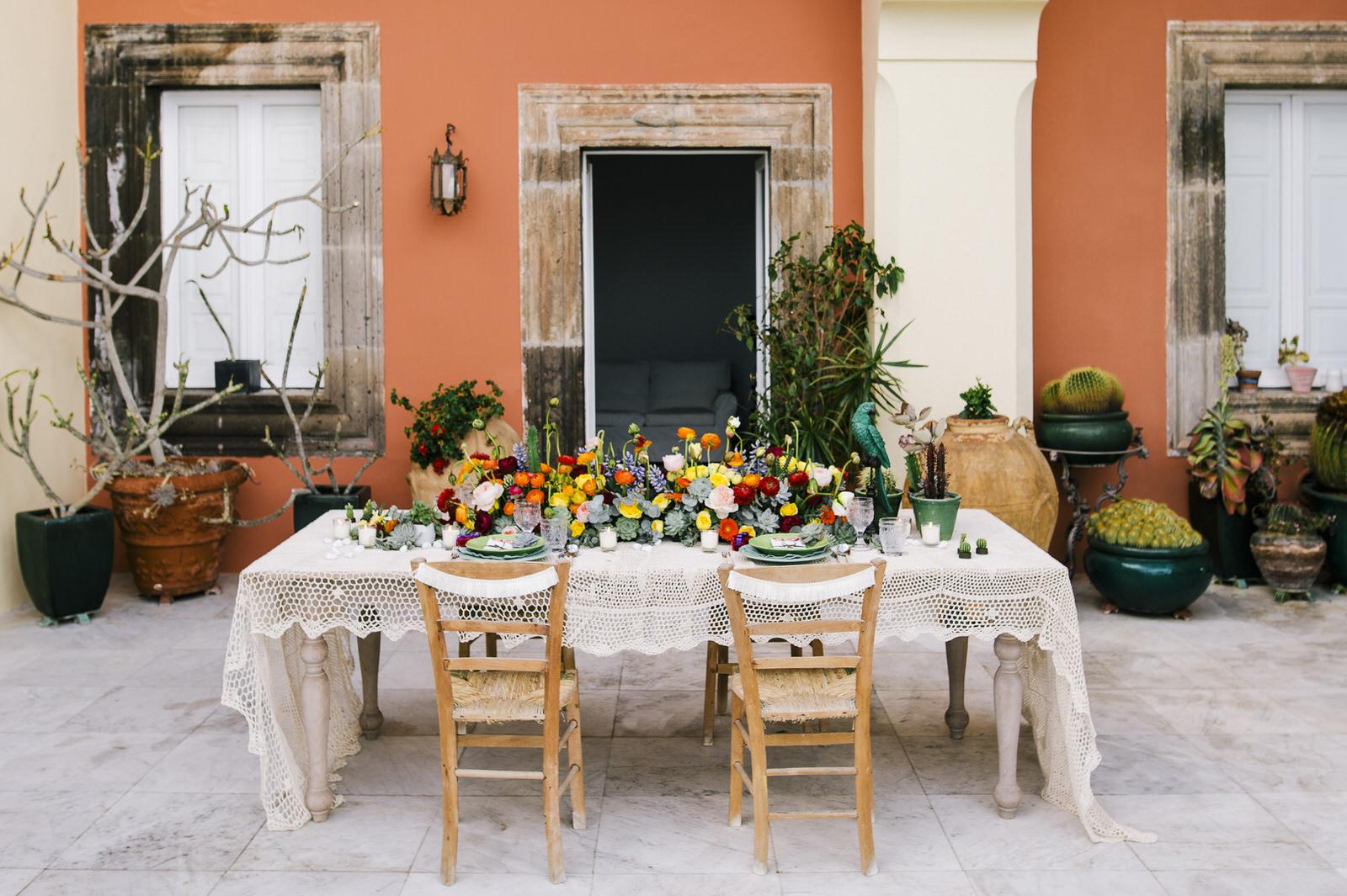exotic wedding table